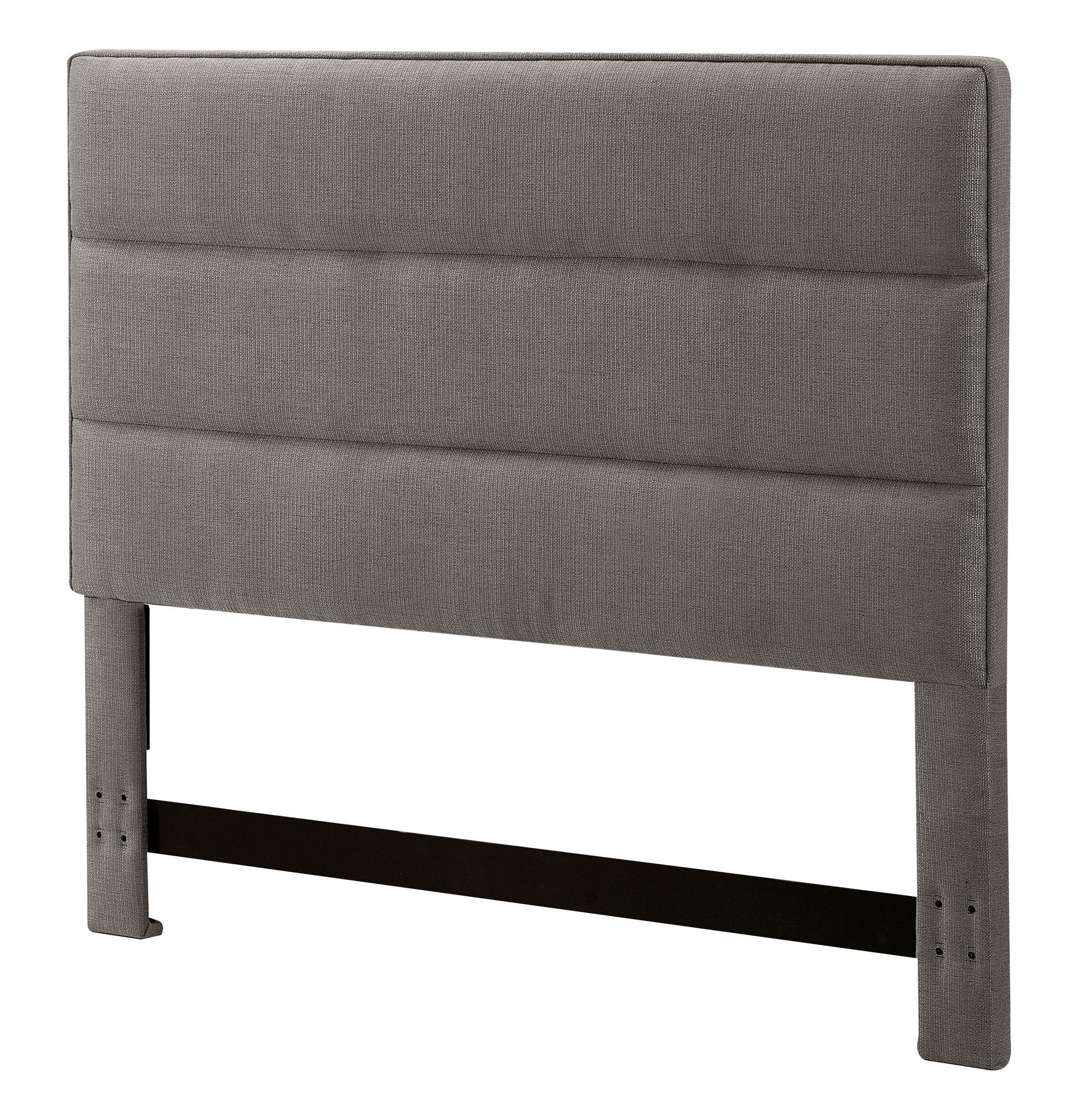 Upholstered Panel Headboard Size: King, Upholstery: Neutral Gray