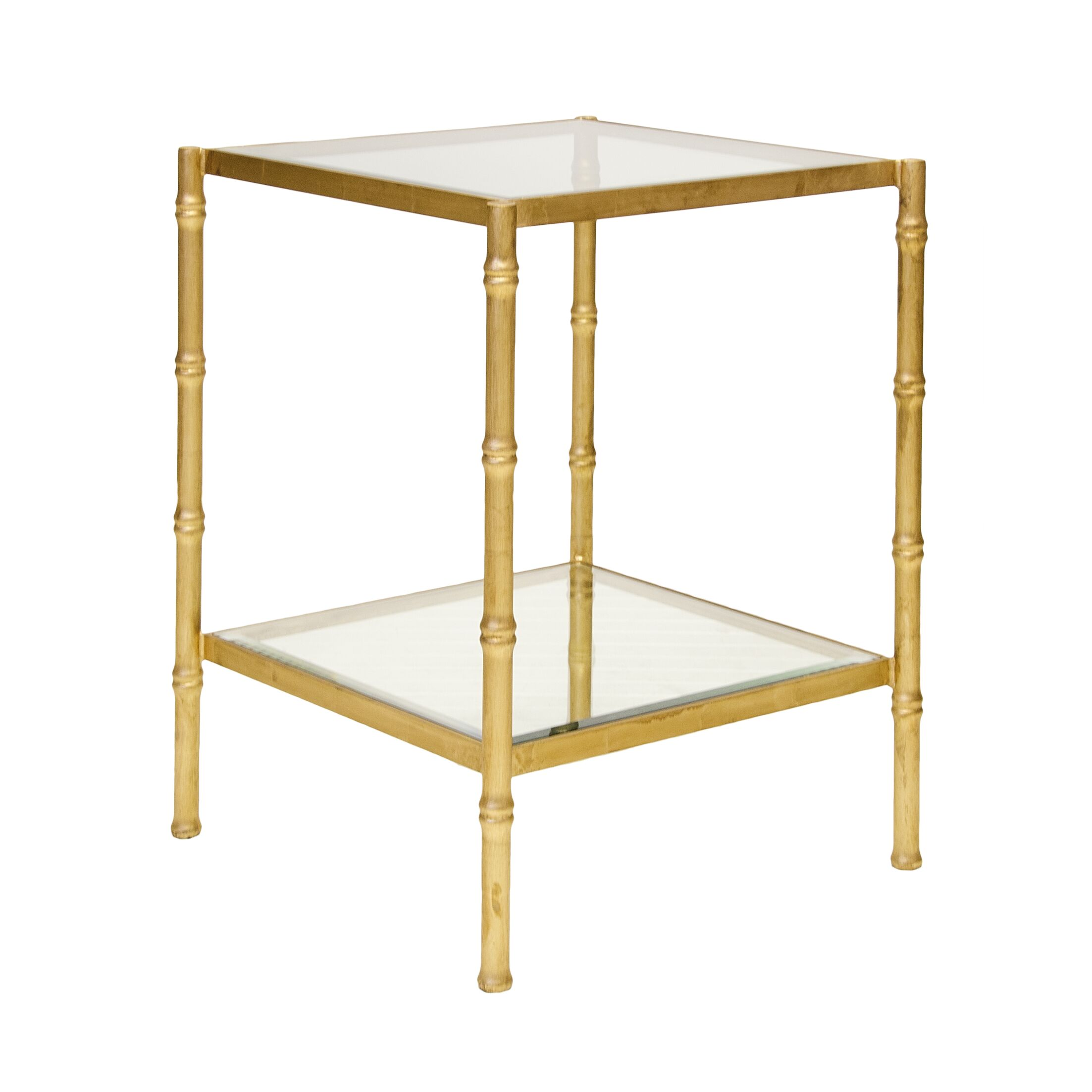 Bamboo End Table Color: Gold Leaf