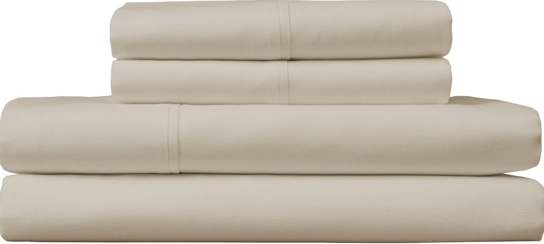 Borgholm 124 Thread Count Sheet Set Color: Beige, Size: King