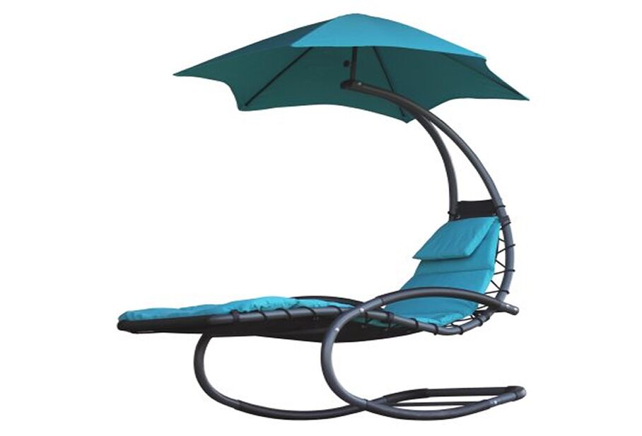 Drake Chaise Lounge with Cushion Color: Turquoise