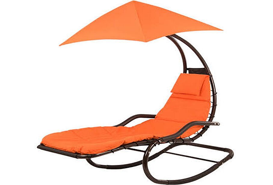 Drake Chaise Lounge with Cushion Color: Orange