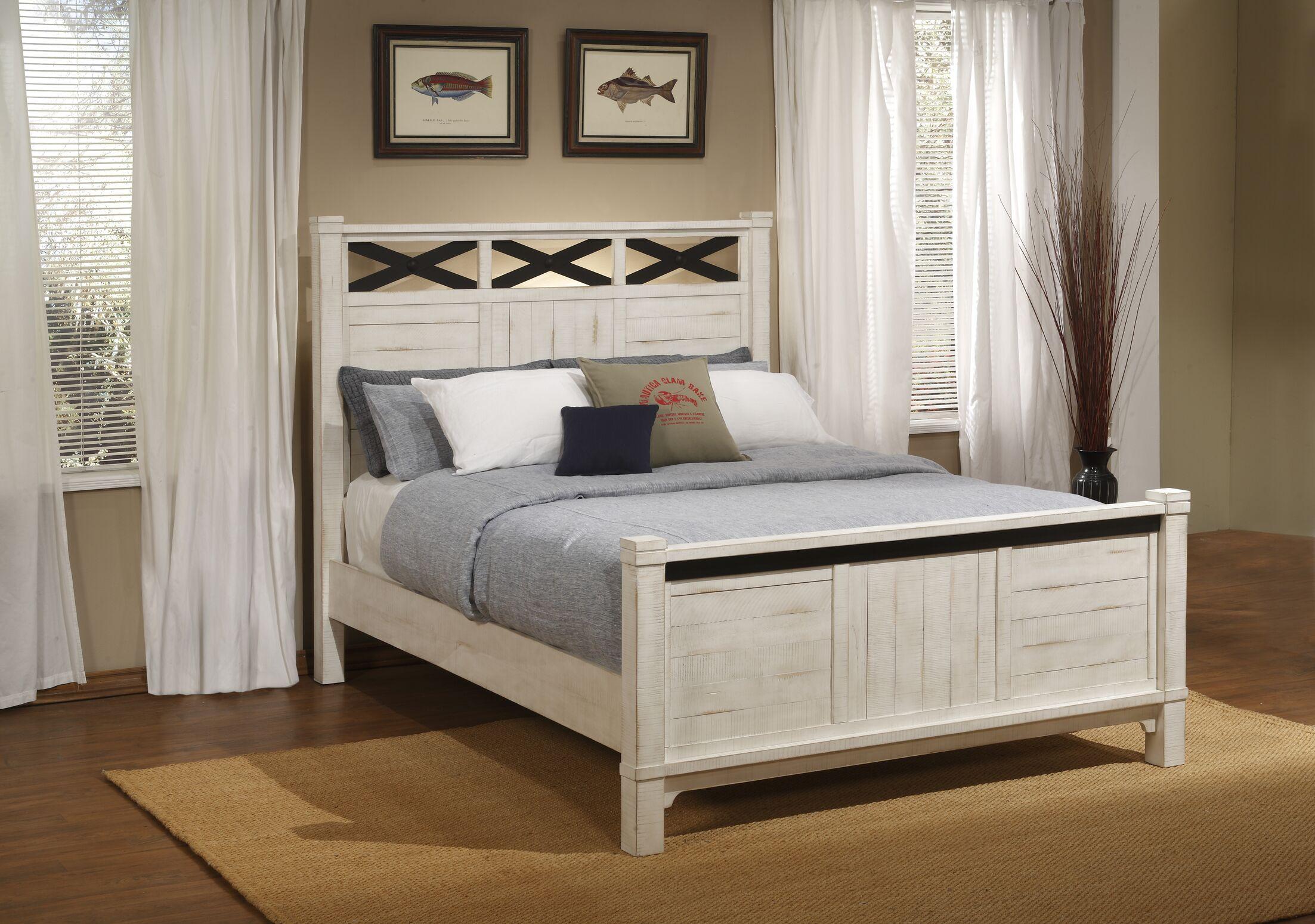 Saige Home Farmhouse Panel Bed