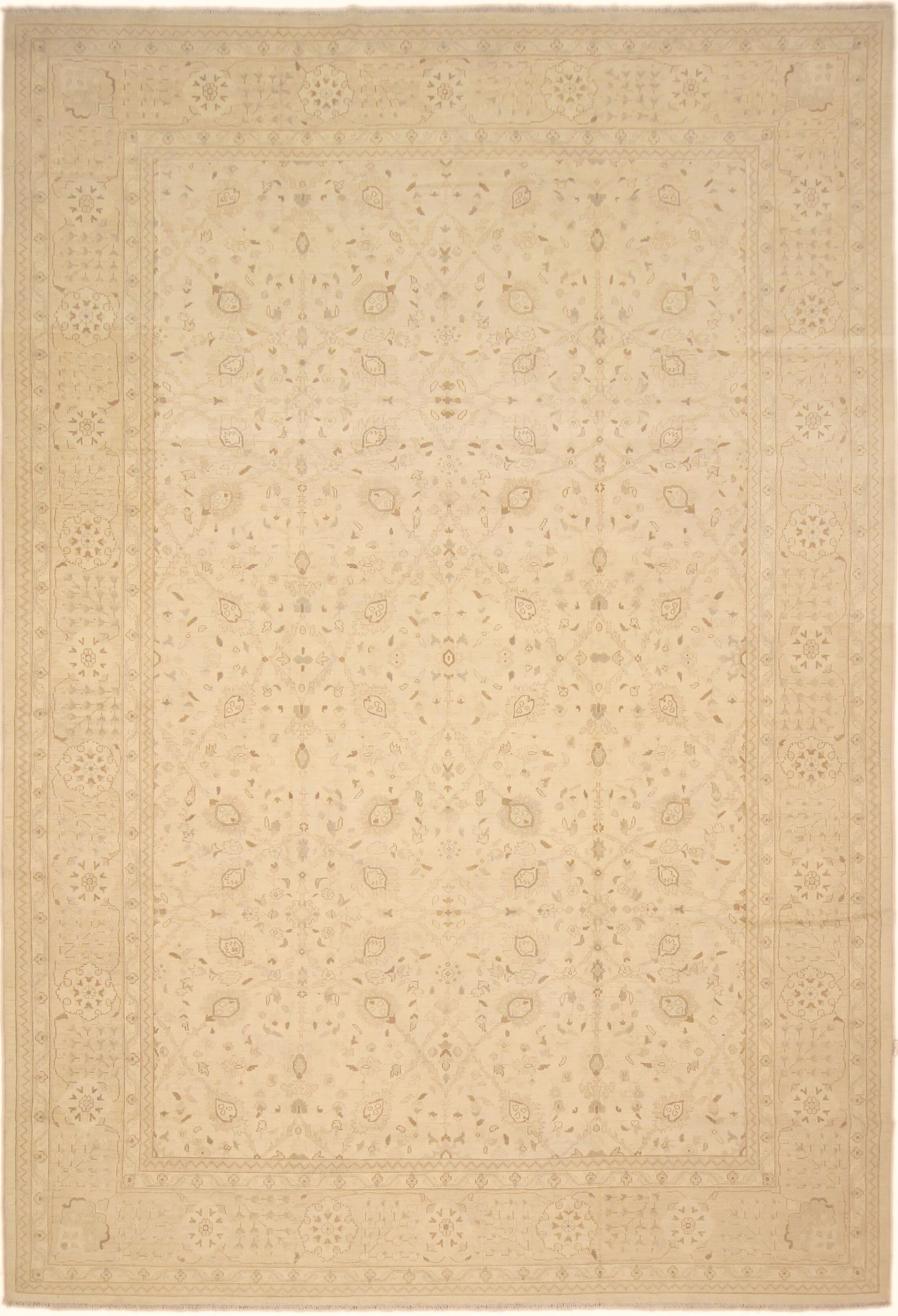 One-of-a-Kind Bolesworth Sun-Faded Hand-Knotted Wool Ivory/Tan Area Rug