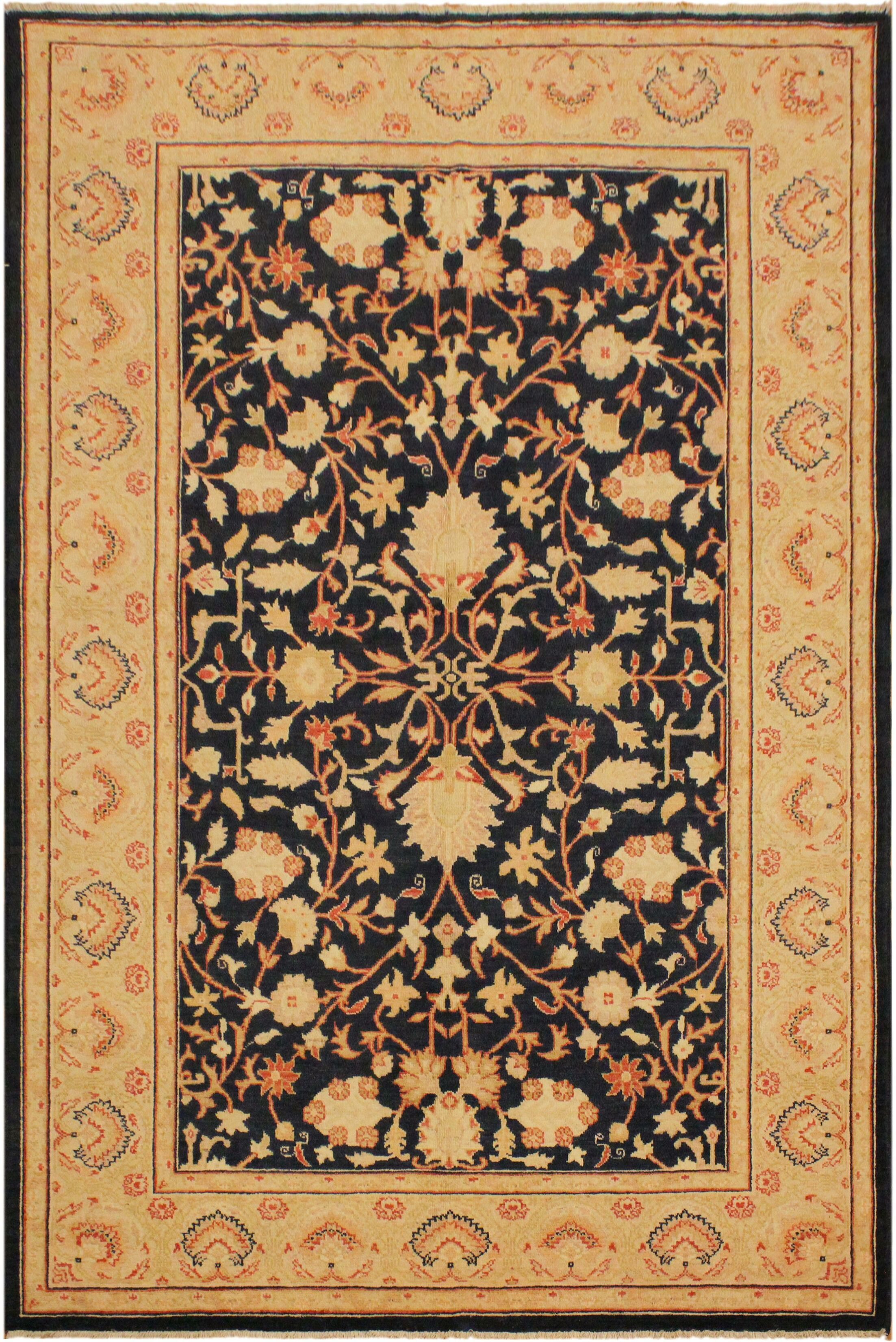 One-of-a-Kind Bodrum Hand-Knotted Wool Tan/Black Area Rug