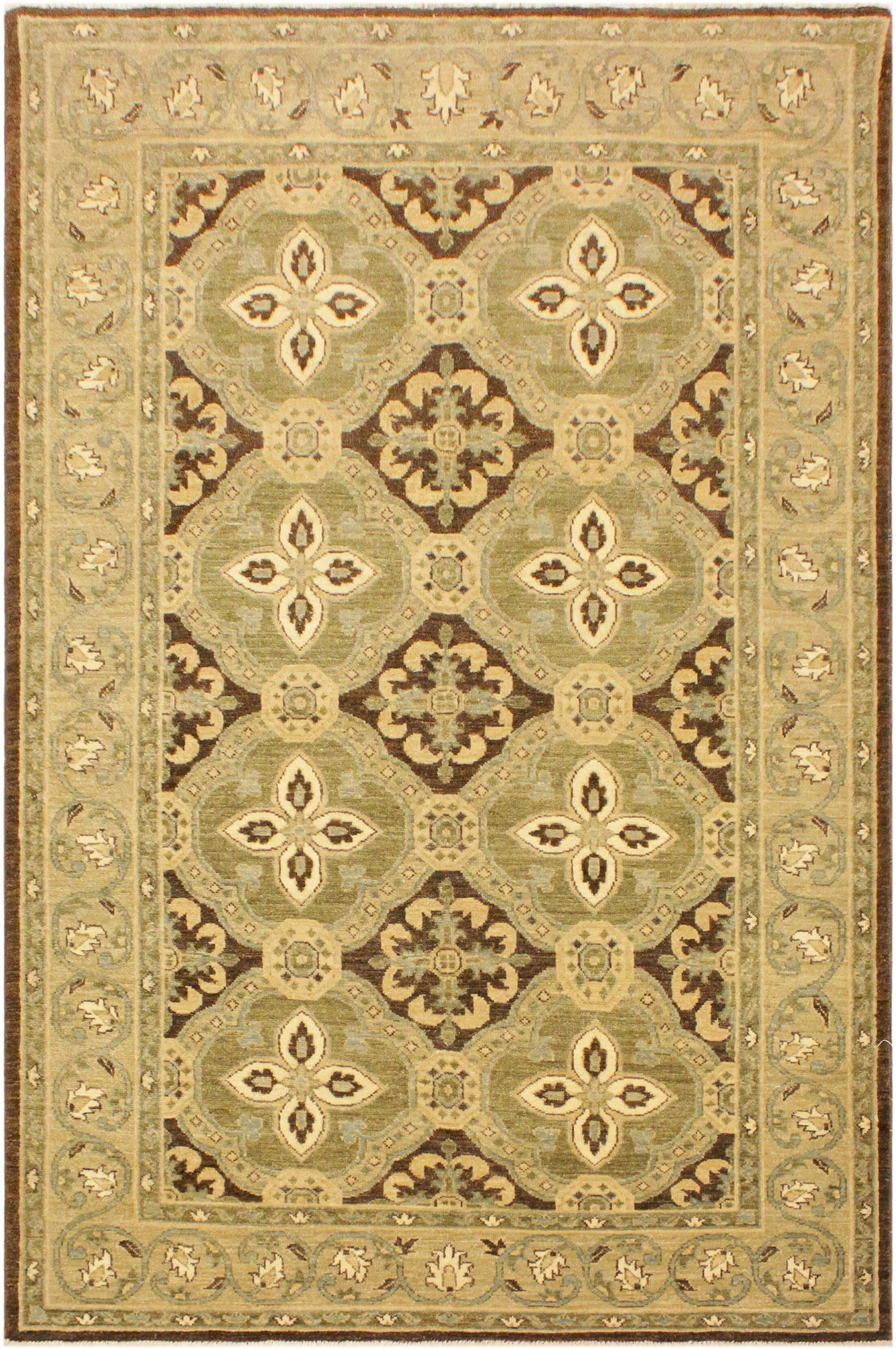 One-of-a-Kind Bodrum Hand-Knotted Wool Brown/Green Area Rug