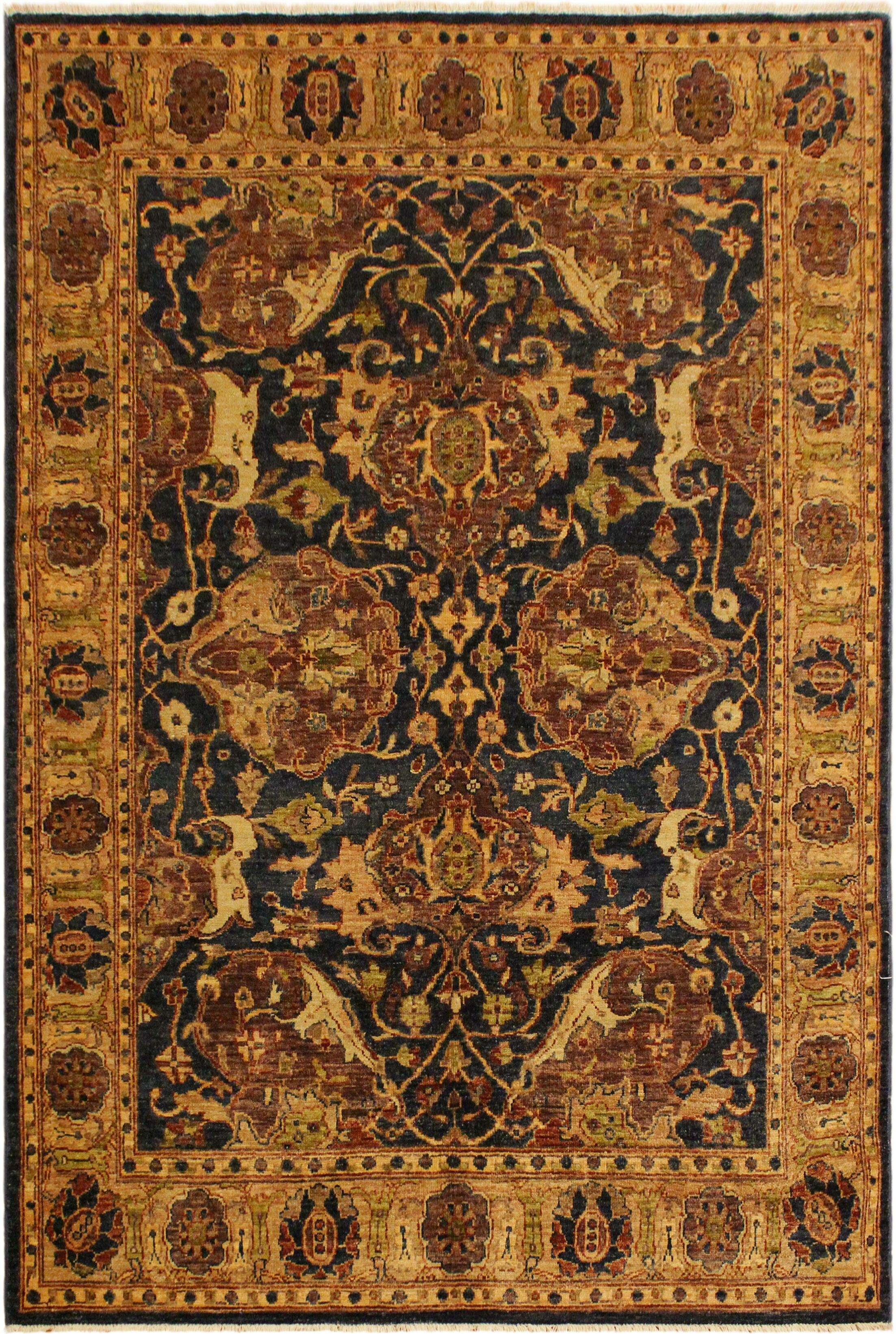 One-of-a-Kind Carmela Hand-Knotted Wool Gold/Brown Area Rug