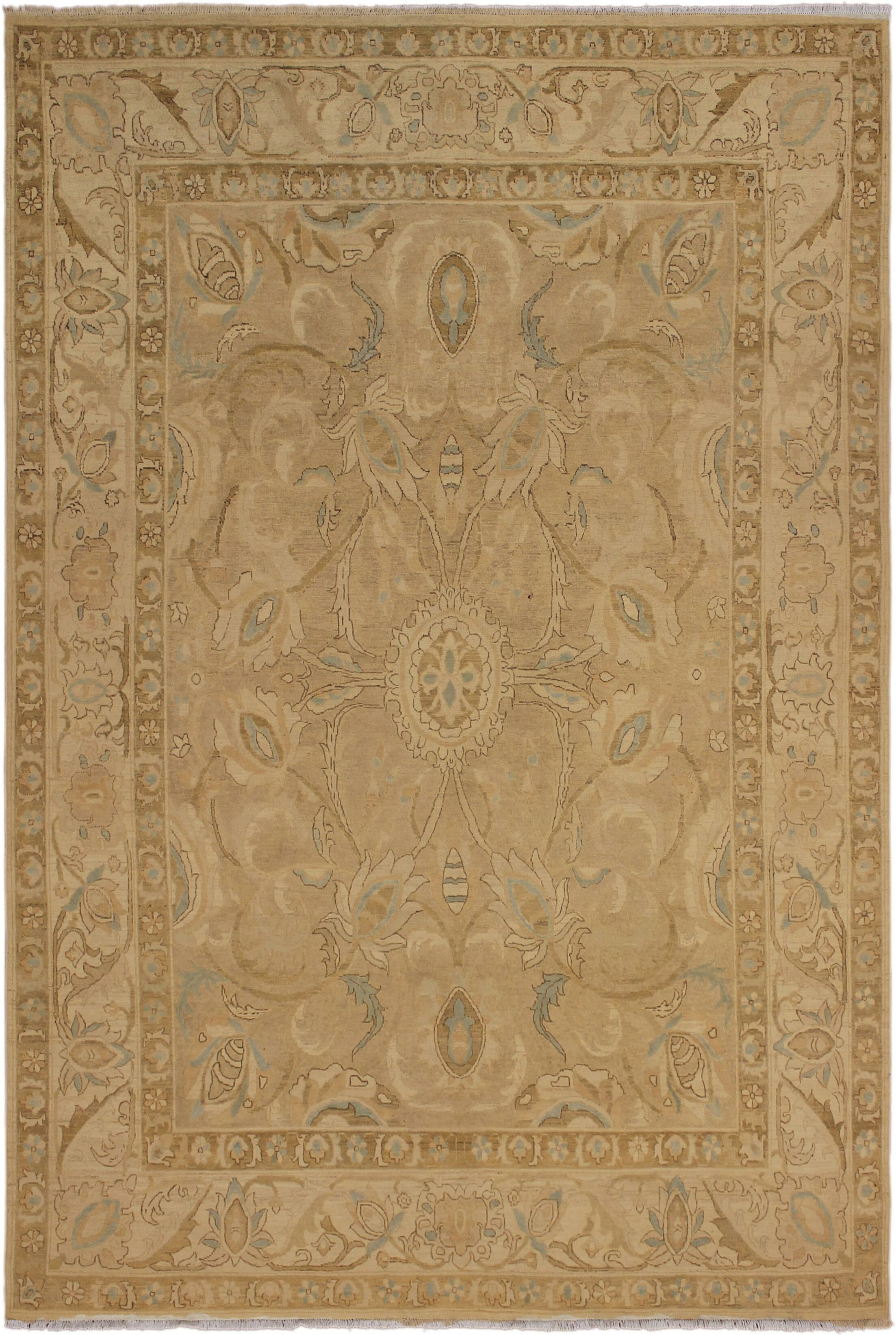 One-of-a-Kind Bolesworth Sun-Faded Hand-Knotted Wool Brown Area Rug