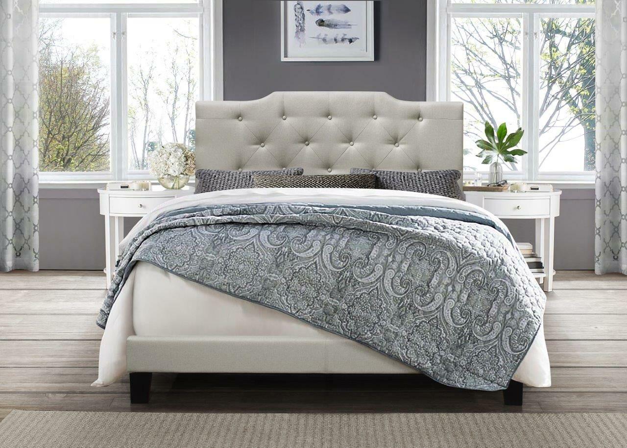 Kurt Upholstered Panel Bed Color: Beige, Size: Queen