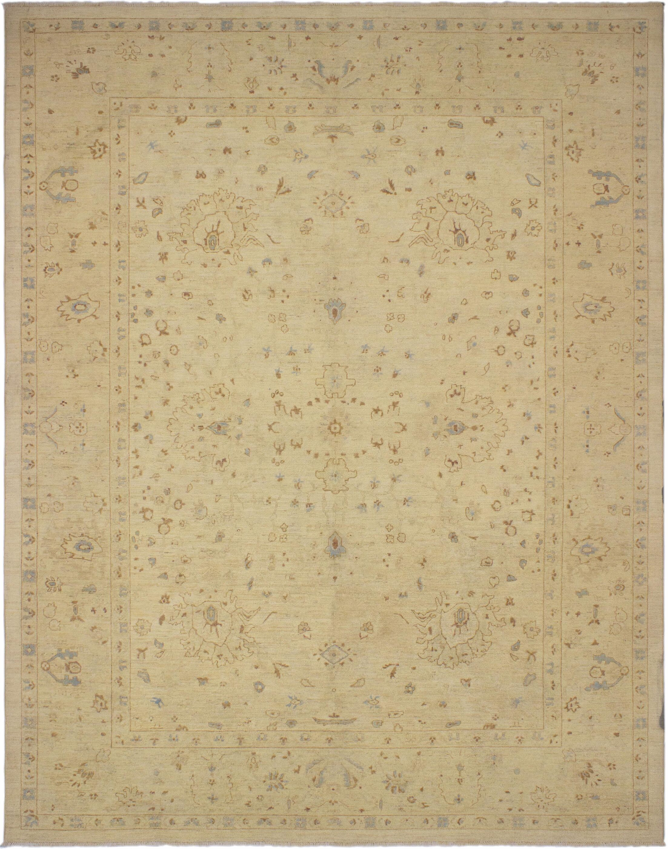 One-of-a-Kind Bolesworth Sun-Faded Hand-Knotted Wool Beige Area Rug