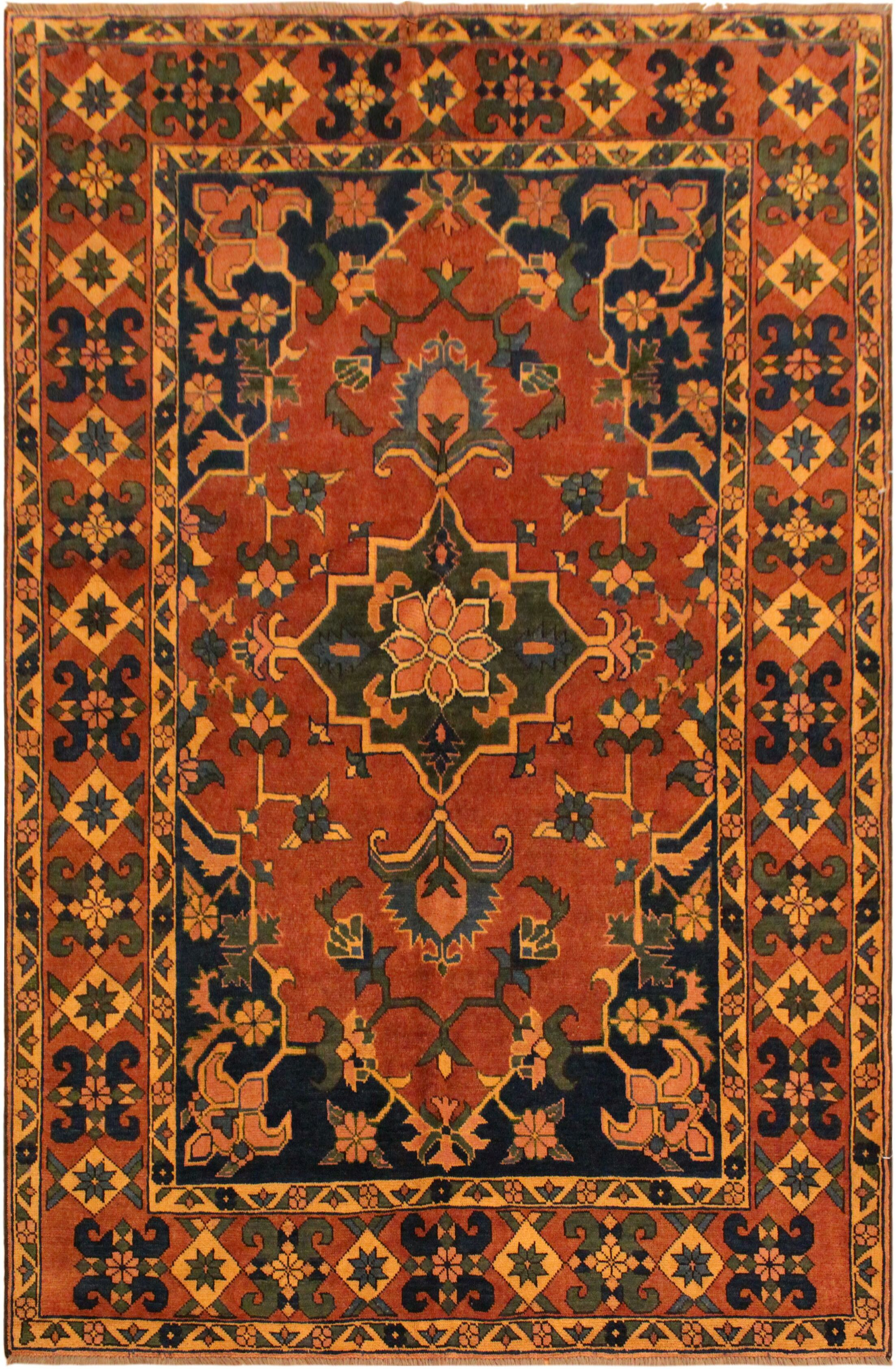 One-of-a-Kind Dorothy Hand-Knotted Wool Red/Blue Area Rug