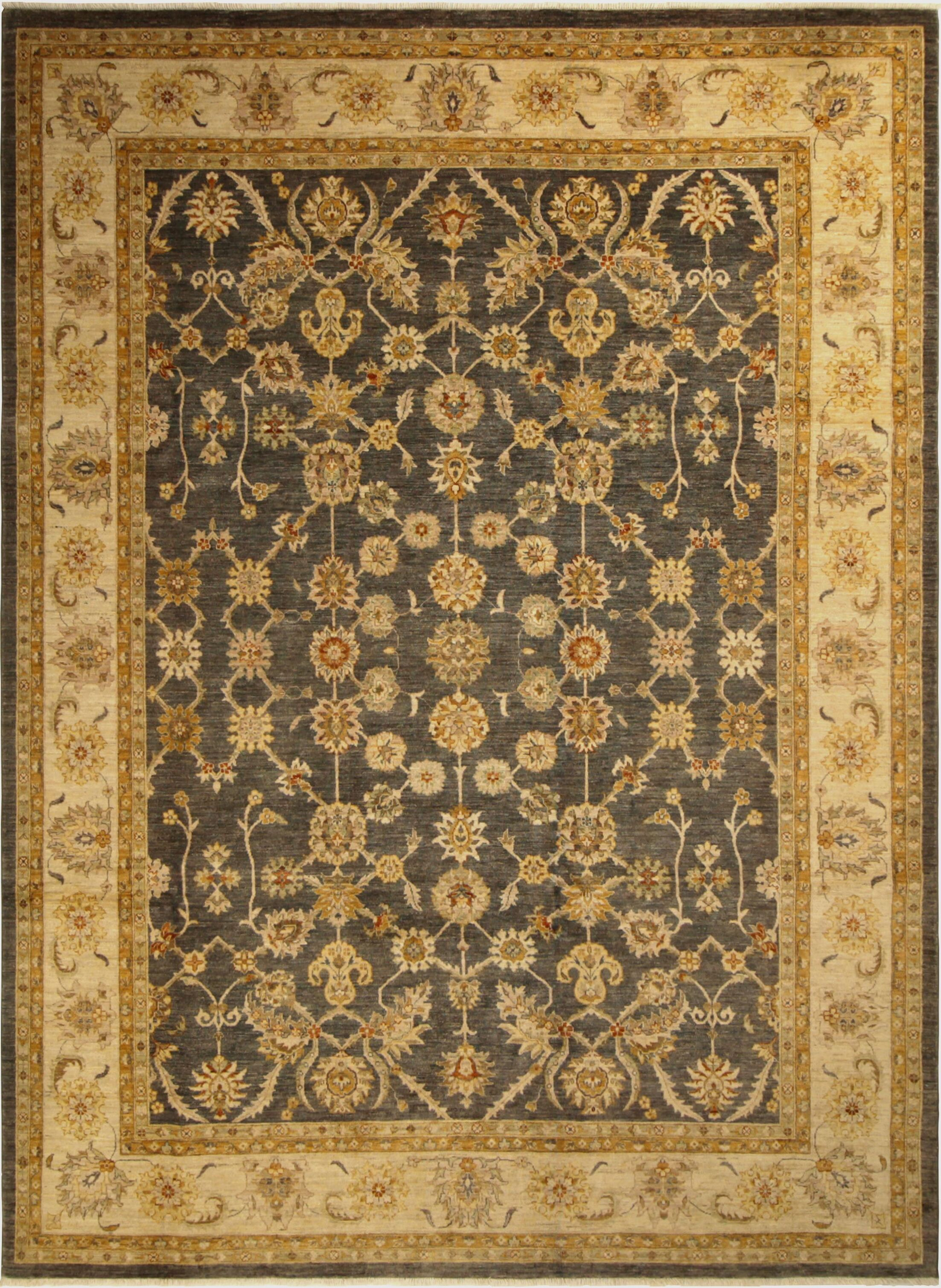 One-of-a-Kind Dorothy Hand-Knotted Wool Charcoal/Gold Area Rug