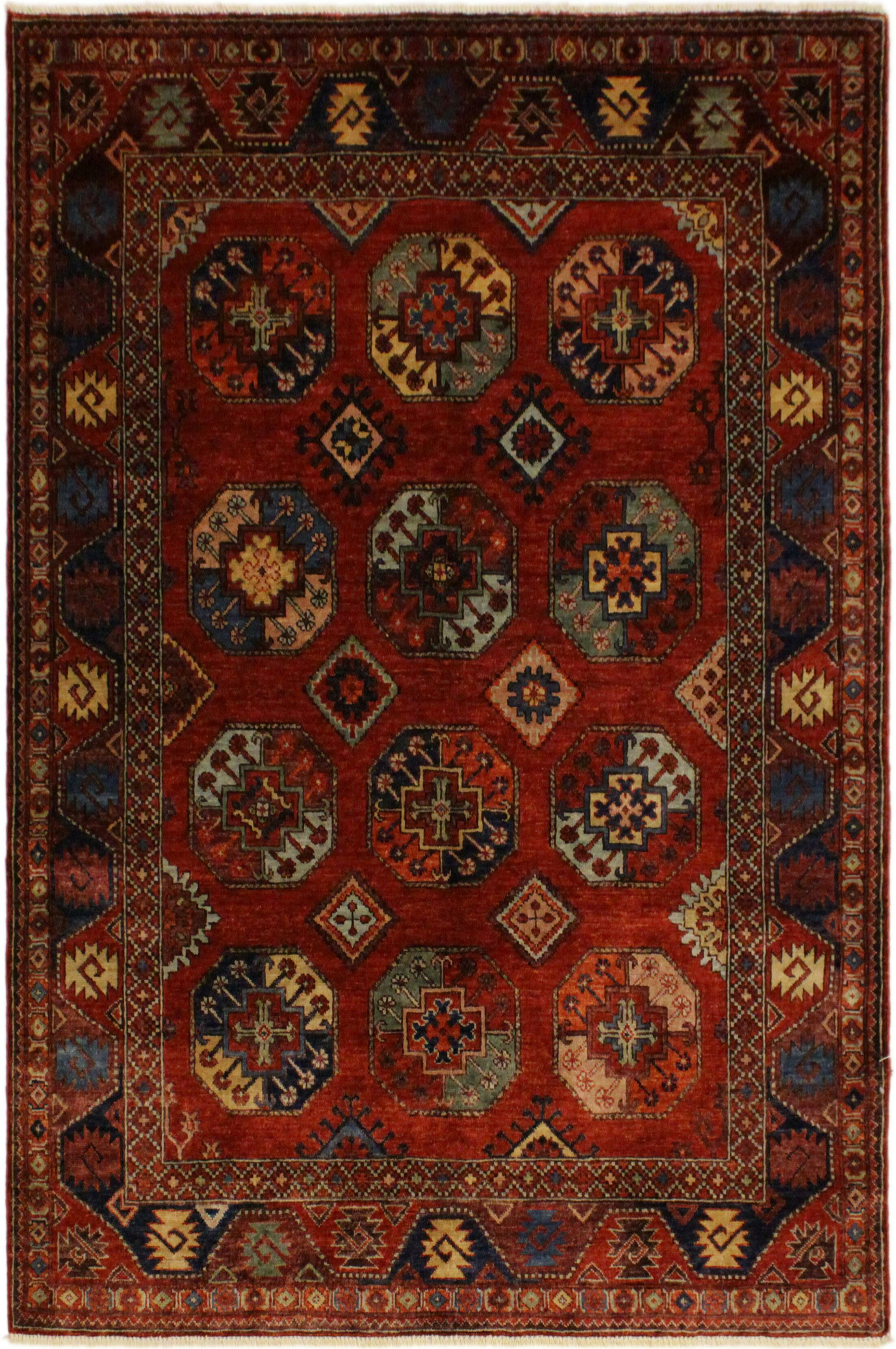 One-of-a-Kind Bolesworth Hand-Knotted Wool Rust Area Rug