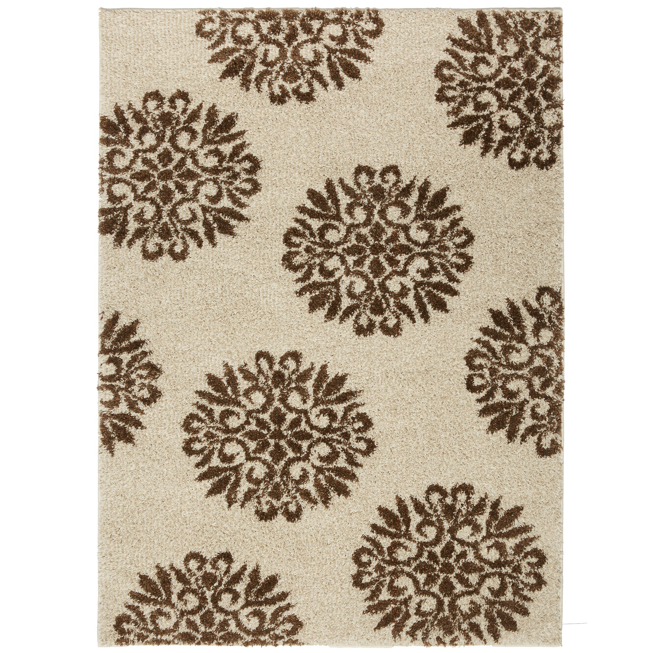 Coney Medallions Cream/Rust Area Rug Rug Size: Rectangle 10' x 14'