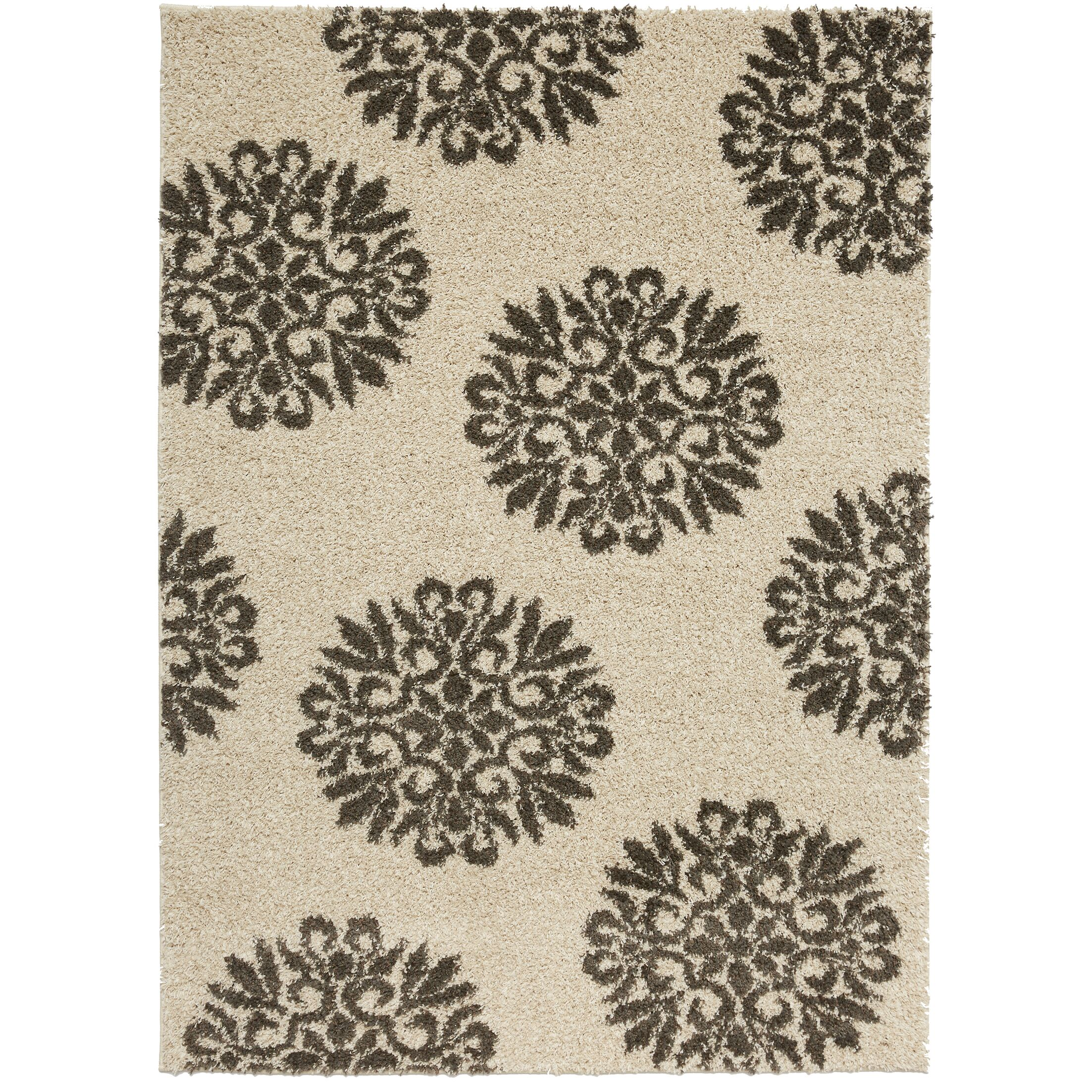 Coney Exploded Medallions Shag Cocoa Area Rug Rug Size: Rectangle 5' x 7'