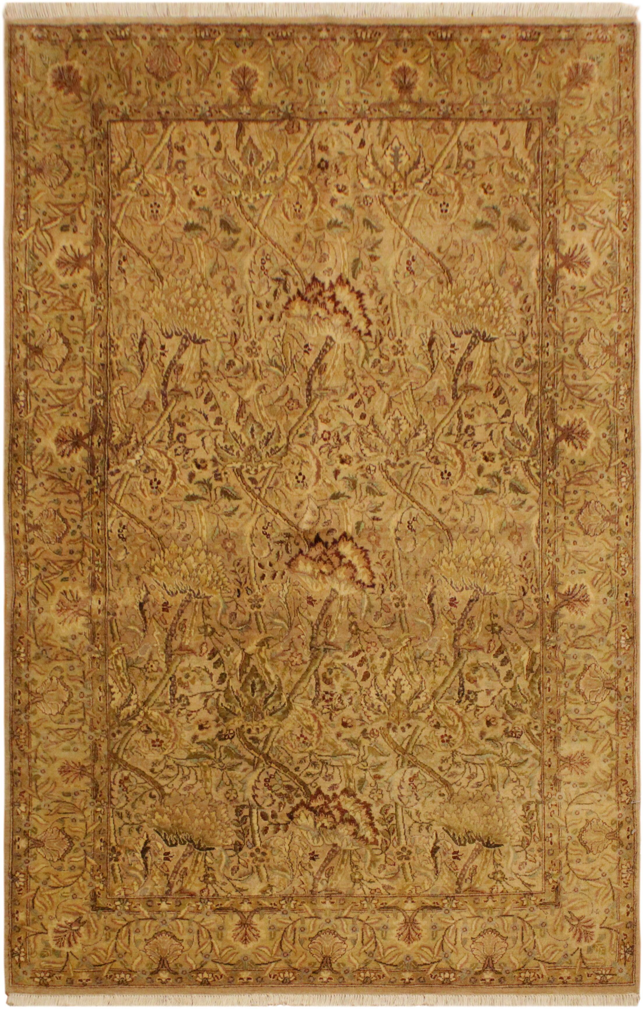 One-of-a-Kind Mcdavid Hand-Knotted Wool Tan/Gold Area Rug