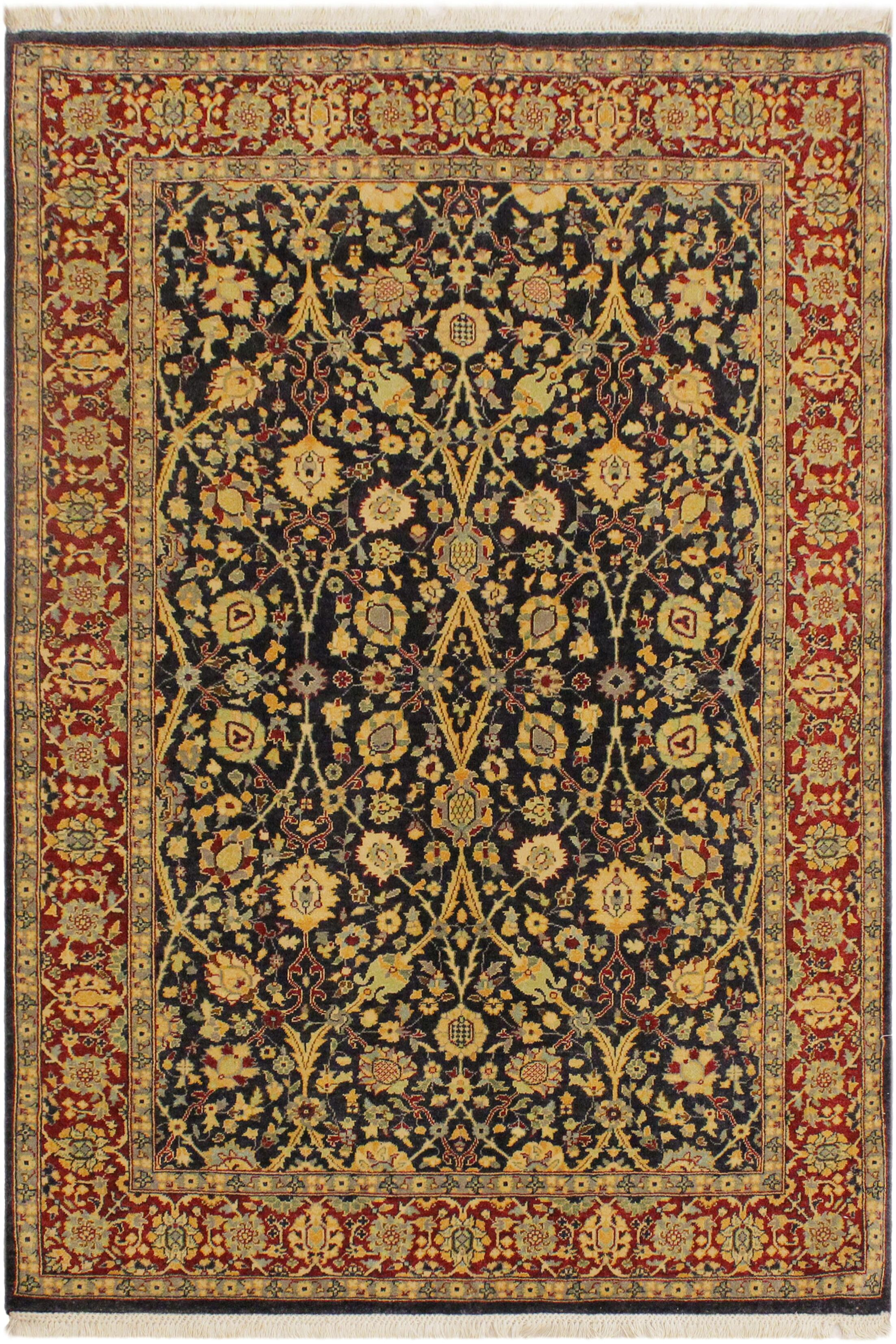 One-of-a-Kind Ernesto Turkish Hand-Knotted Wool Blue/Red Area Rug