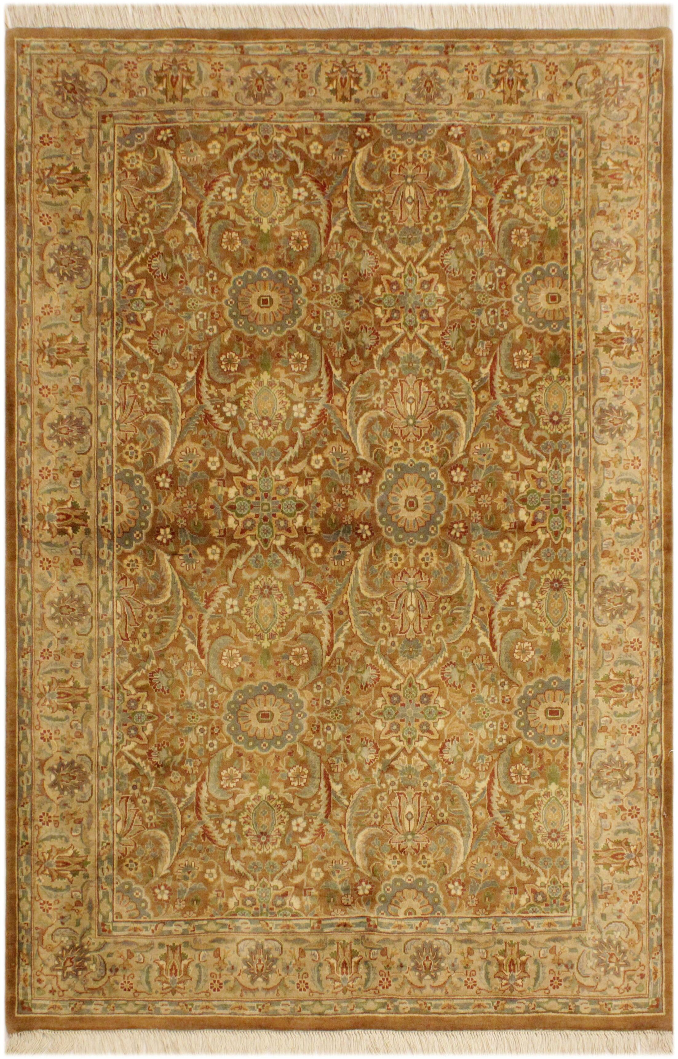 One-of-a-Kind Mcdavid Hand-Knotted Wool Light Brown/Light Tan Area Rug
