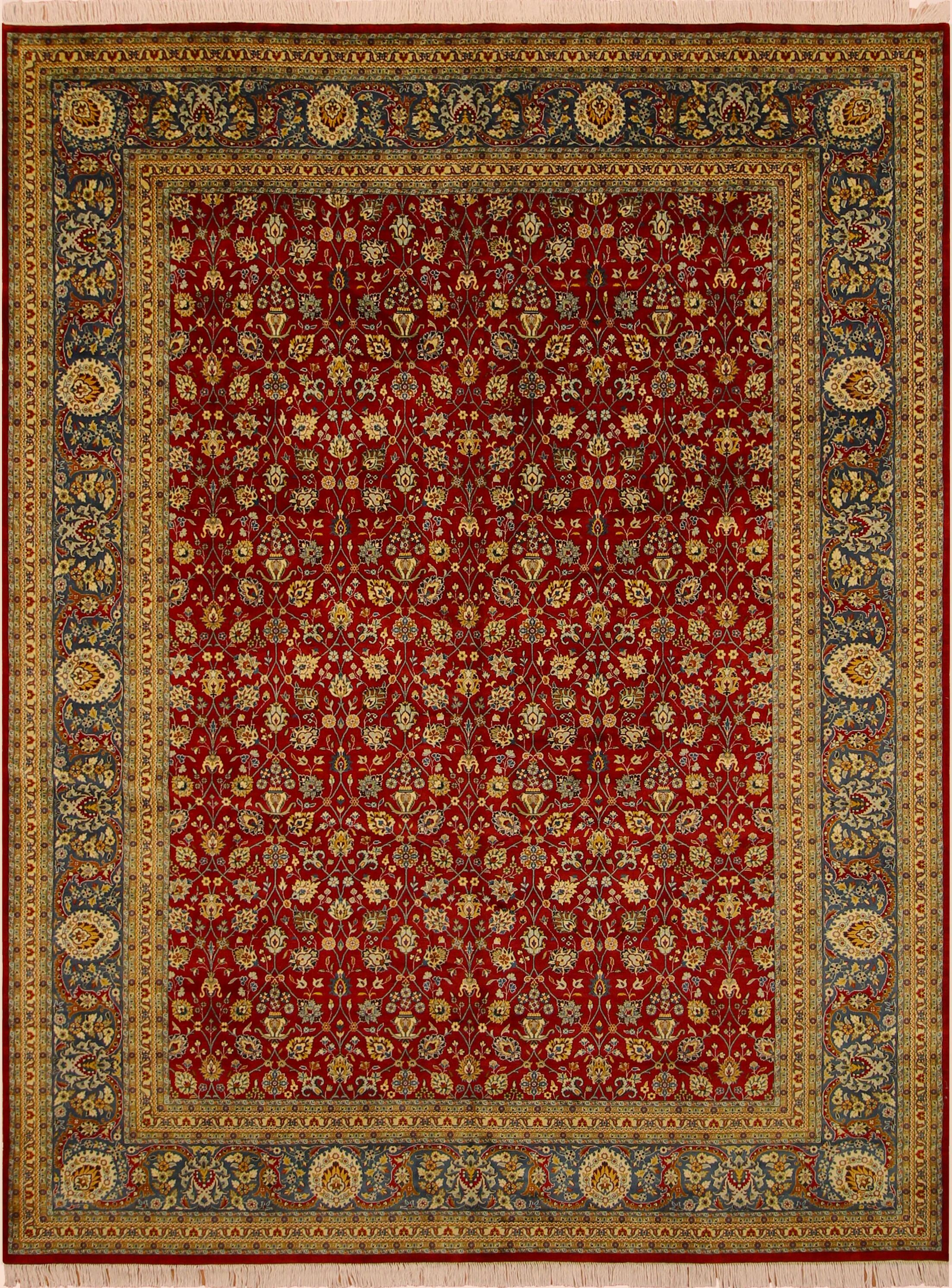 One-of-a-Kind Mcdavid Hand-Knotted Wool Red/Teal Area Rug