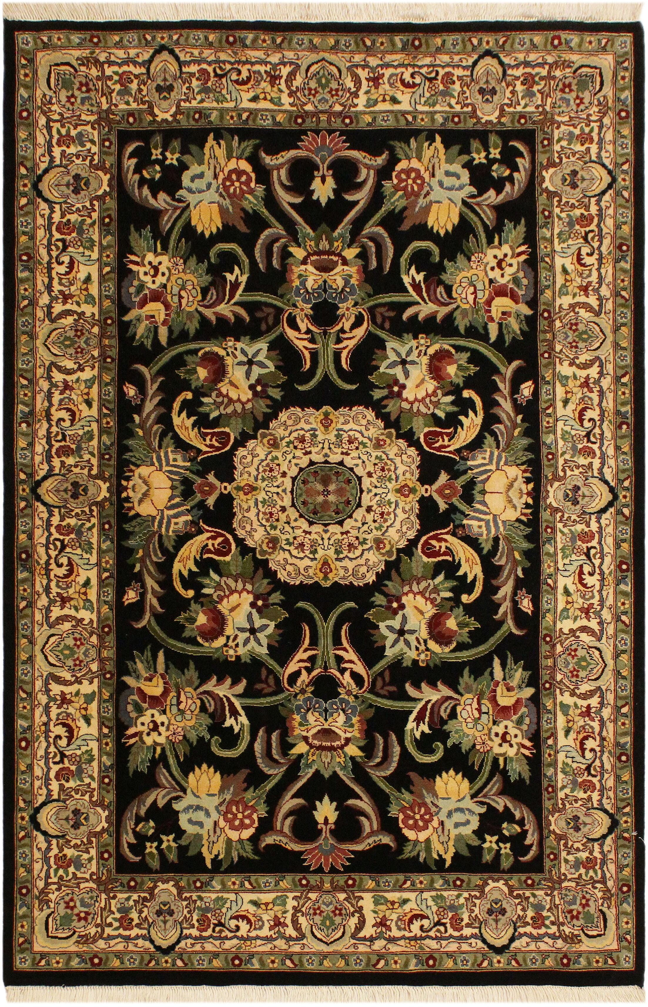 One-of-a-Kind Mcdavid Hand-Knotted Wool Black/Ivory Area Rug