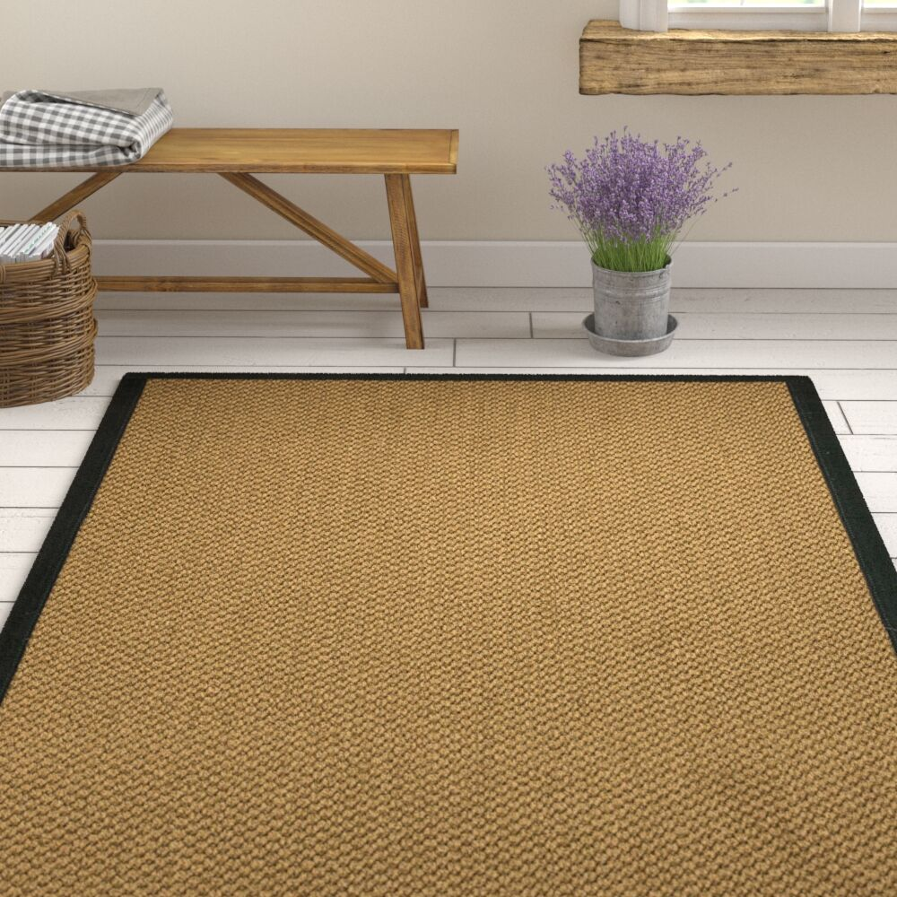 Loehr Hand Woven Brown Area Rug Rug Size: Rectangle 8' X 10'