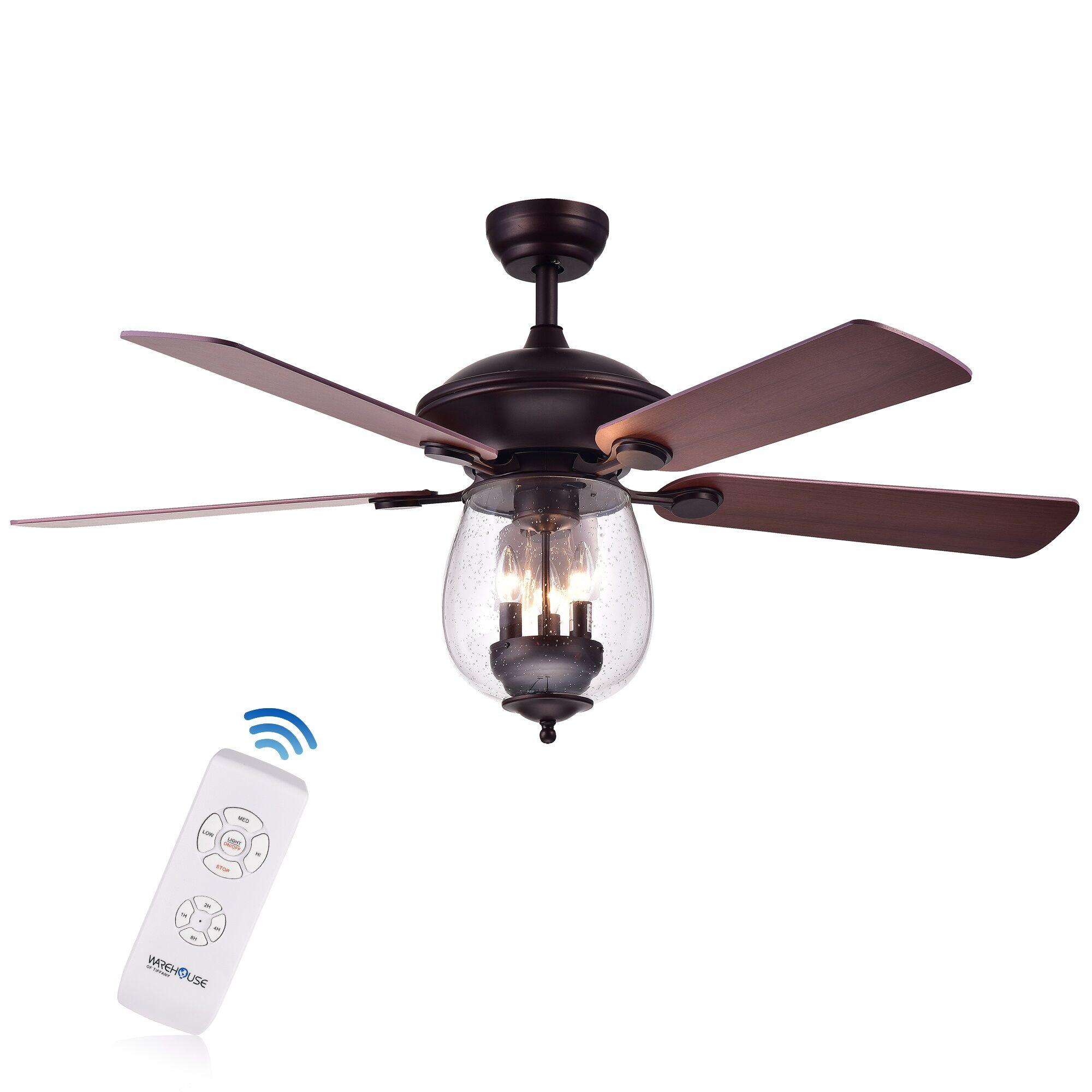 Rueben 5 Blade Ceiling Fan Accessories: Remotes