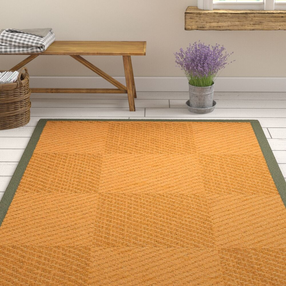 Luhrmann Handwoven Flatweave Beige/Brown Area Rug Rug Size: Rectangle 4' X 6'