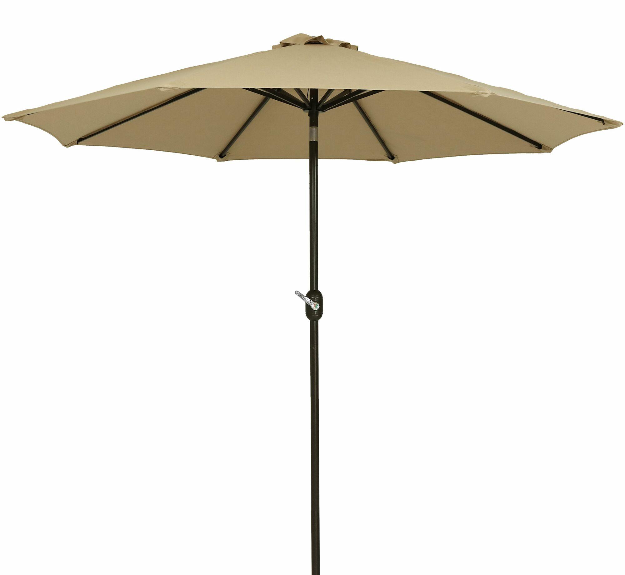 Julian 9' Market Sunbrella Umbrella Fabric Color: Beige