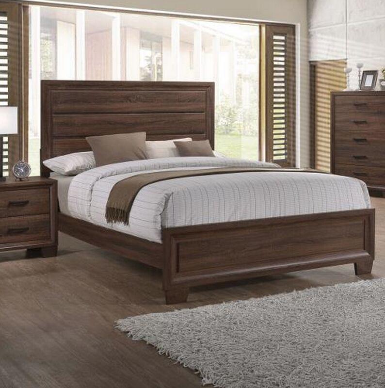 Alisa Panel Bed Size: King, Color: Whitewashed Oak