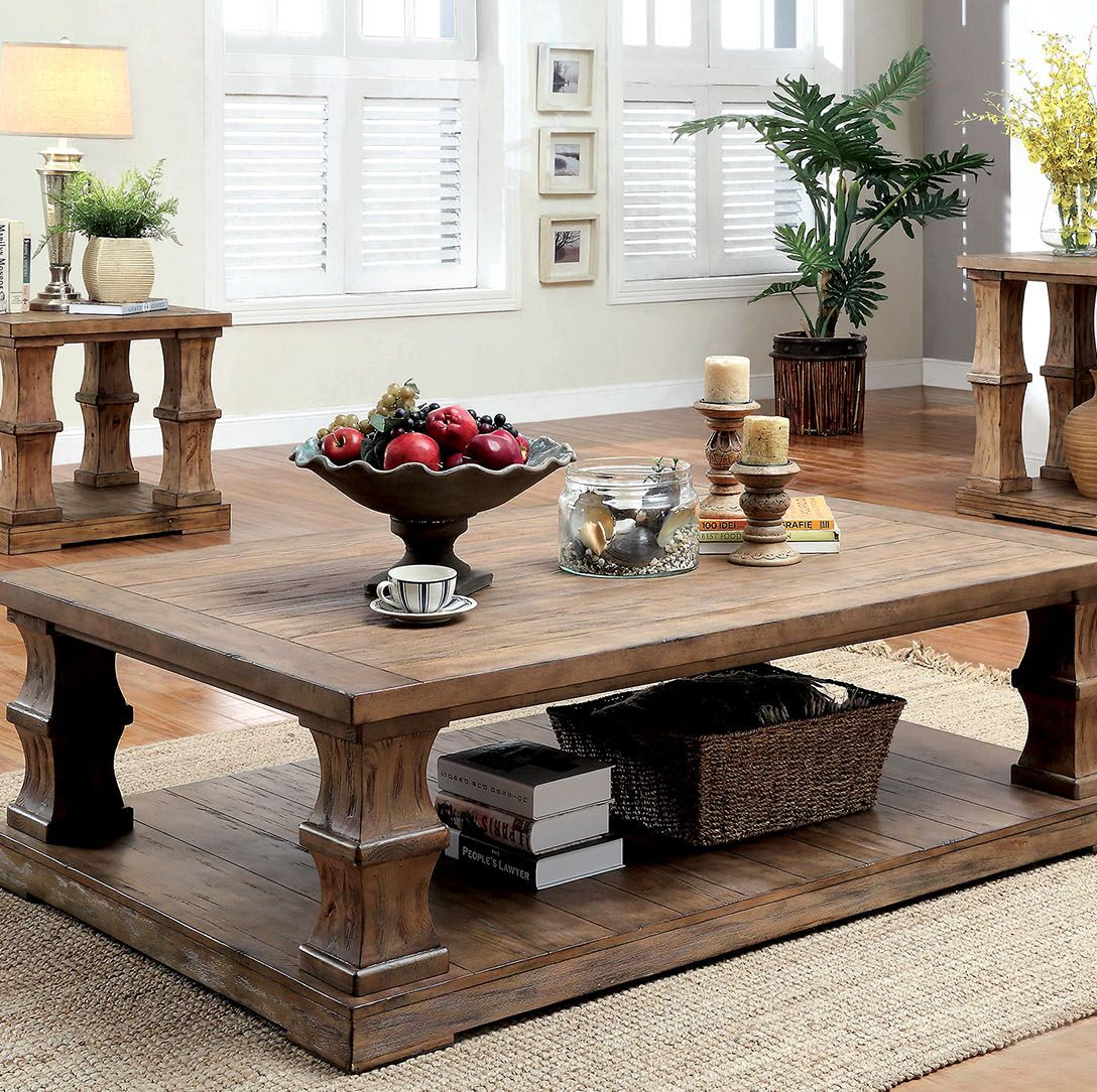 Charlotte Coffee Table with Wooden Top