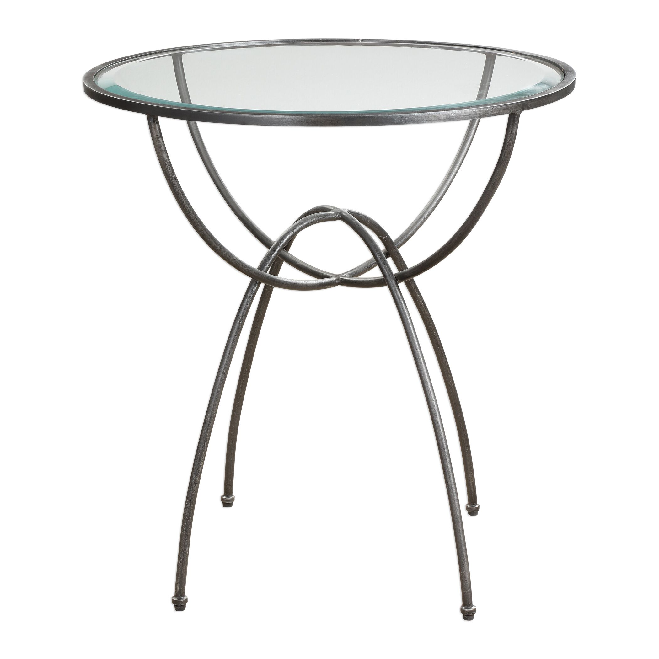 Mirabella Aged Steel Lamp End Table