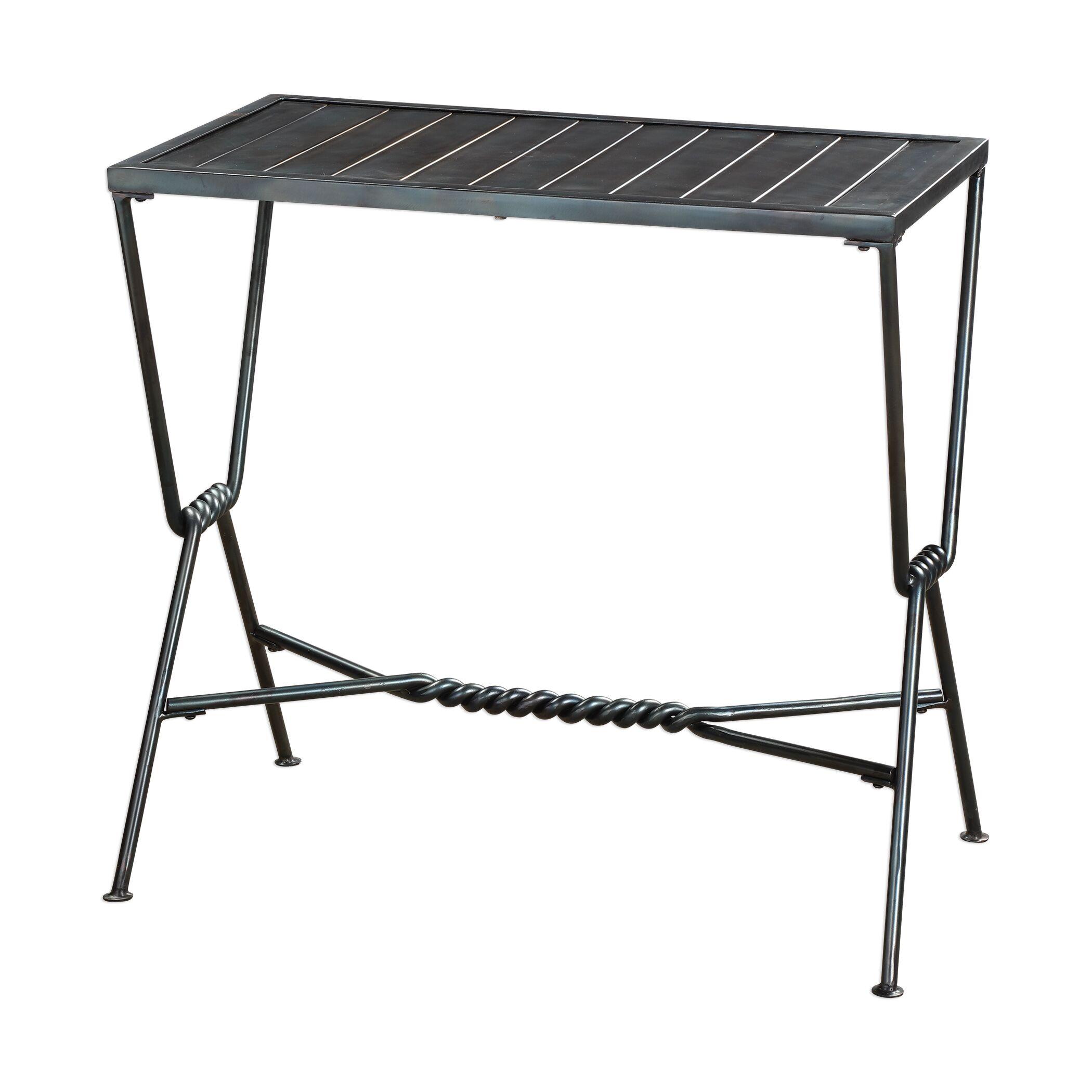 Taya Aged Steel End Table
