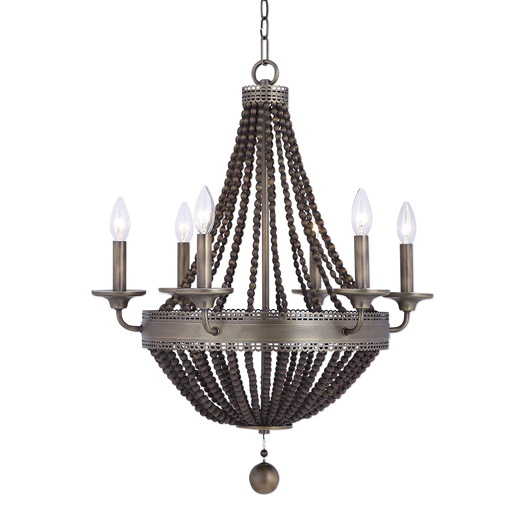 Atticus 6-Light LED Empire Chandelier