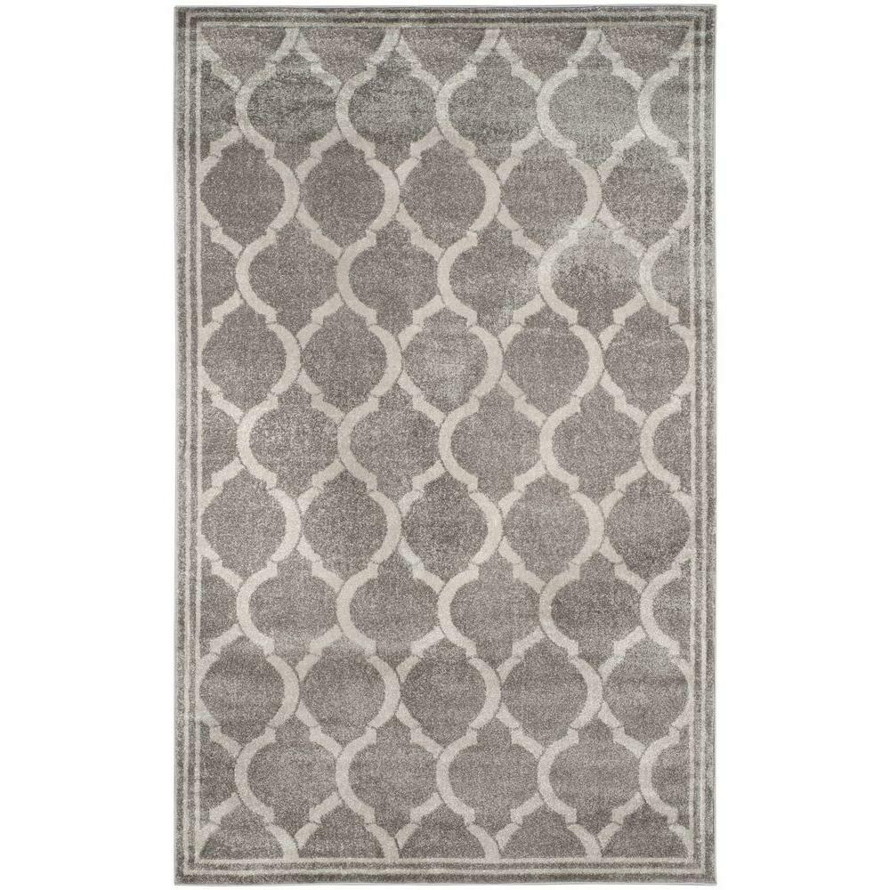 Maritza Gray/Light Gray Indoor/Outdoor Area Rug Rug Size: Rectangle 6' x 9'