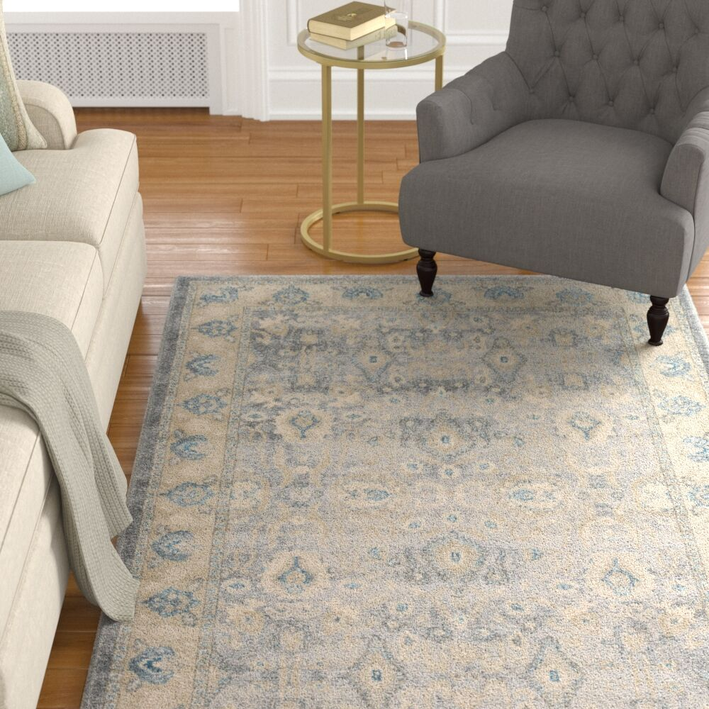 Basswood Gray Area Rug Rug Size: Rectangle 8' x 10'