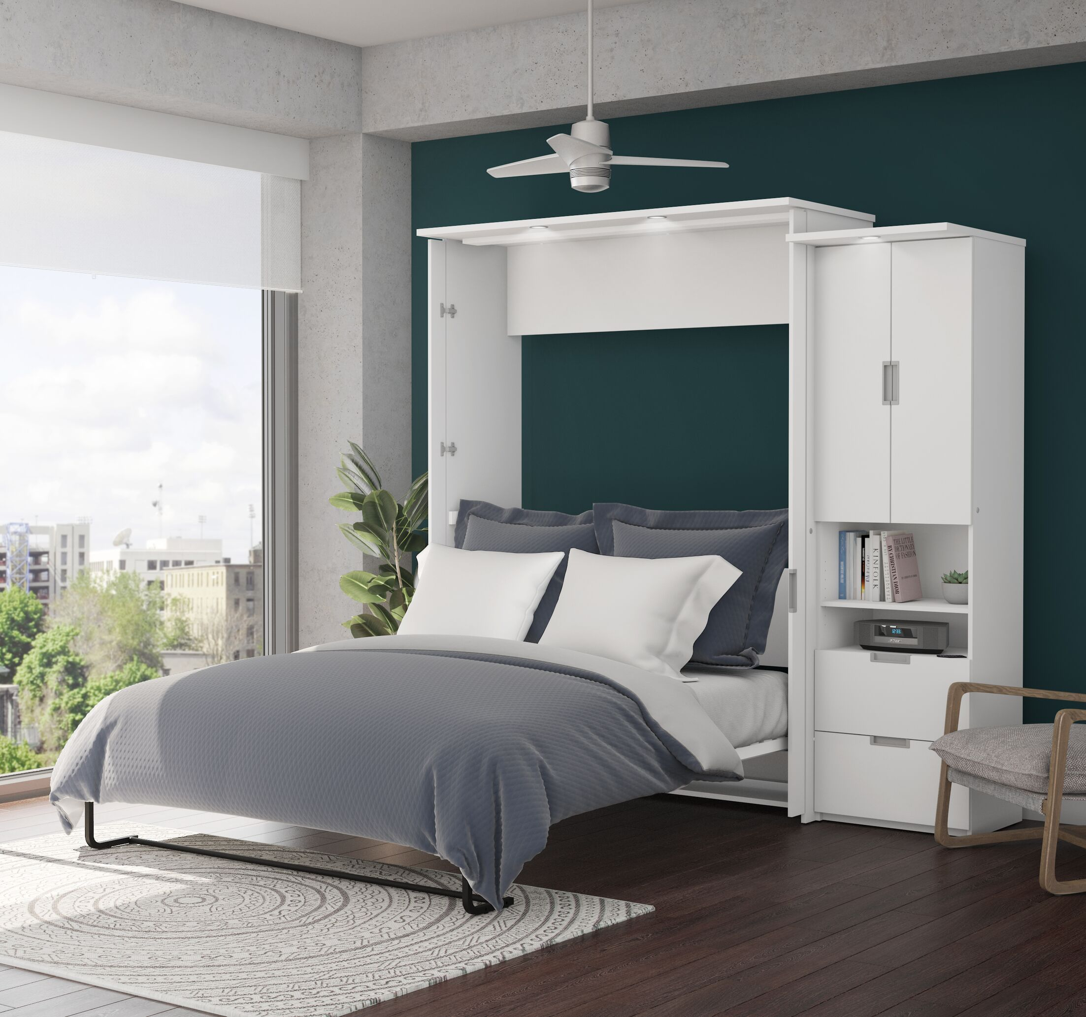 Juniper Murphy Bed and Storage Unit Size: Queen