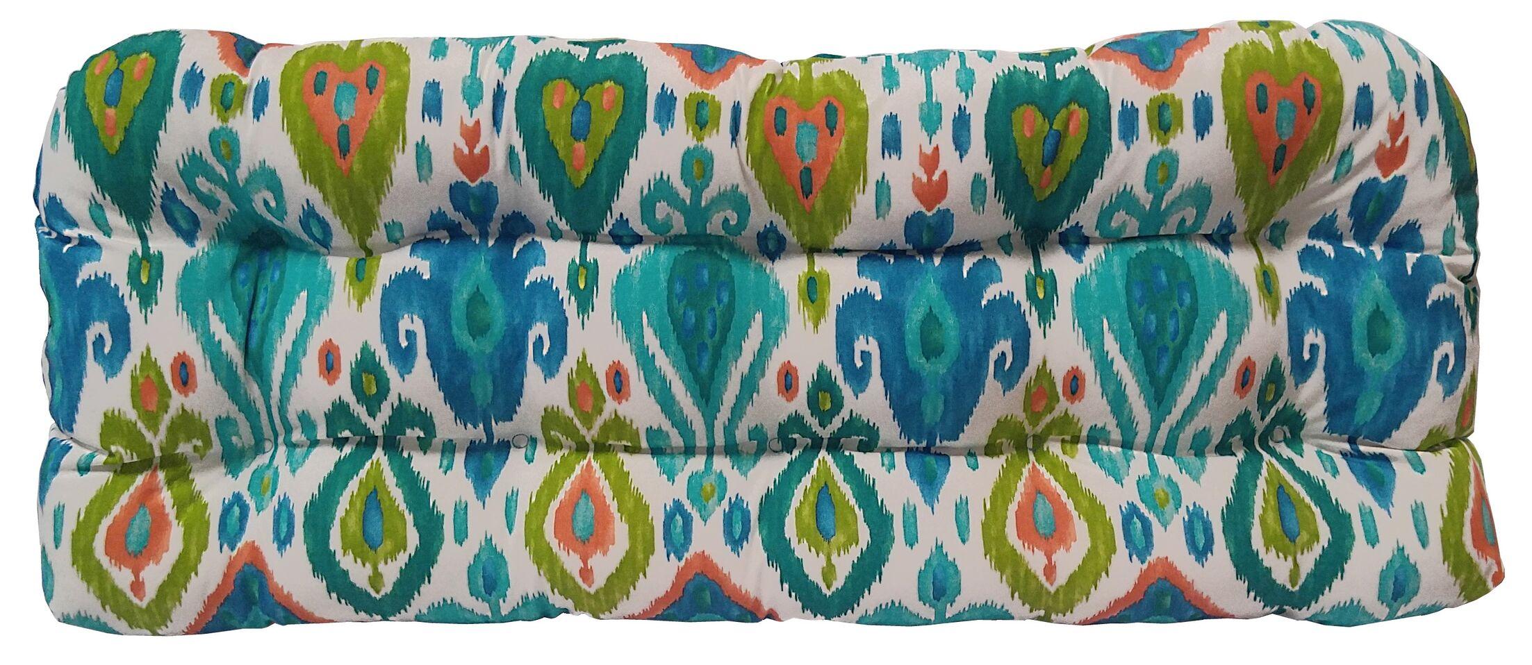 Croft Indoor/Outdoor Bench Cushion Color: Caribe