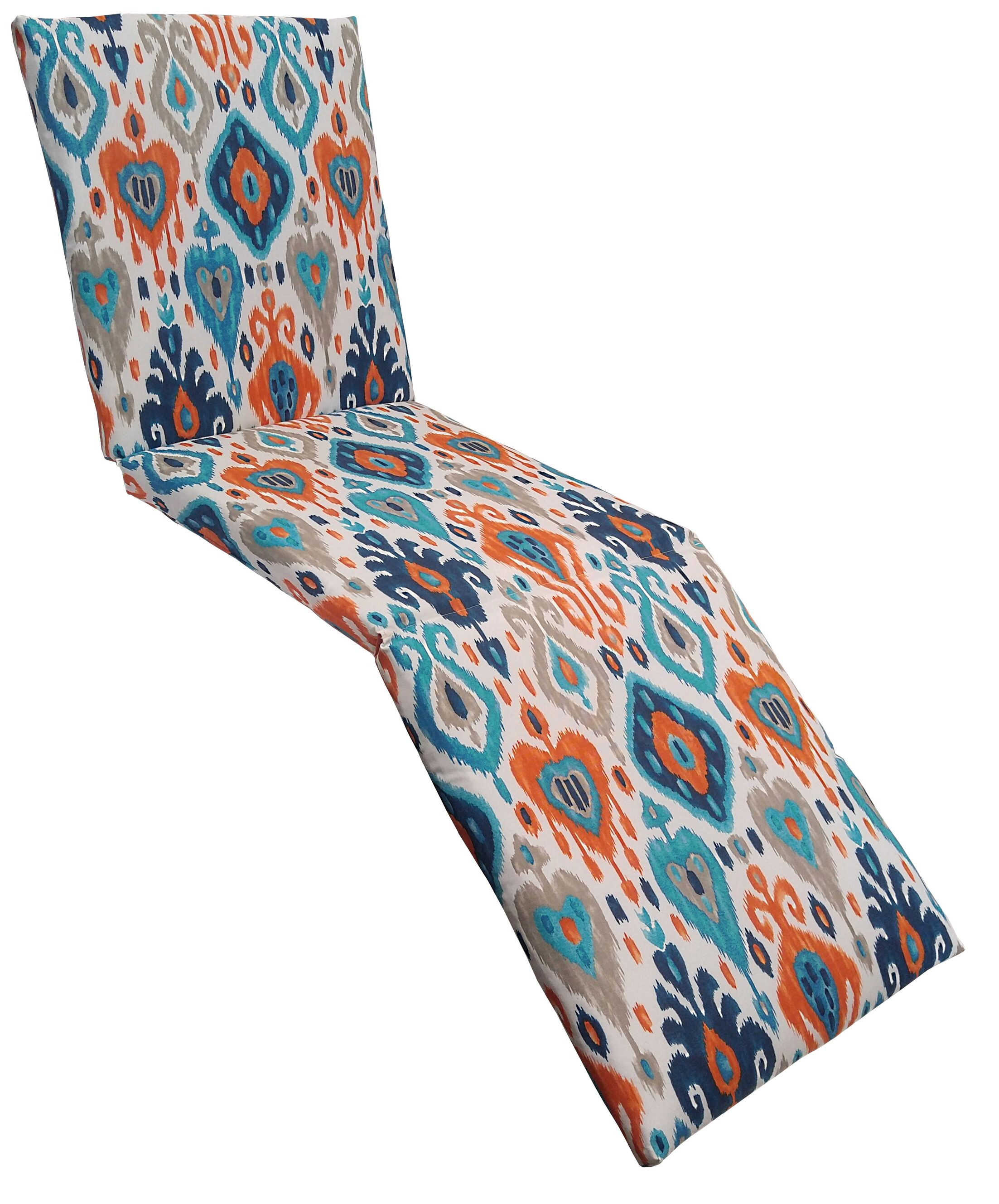 Croft Outdoor Chaise Lounge Cushion Color: Azure