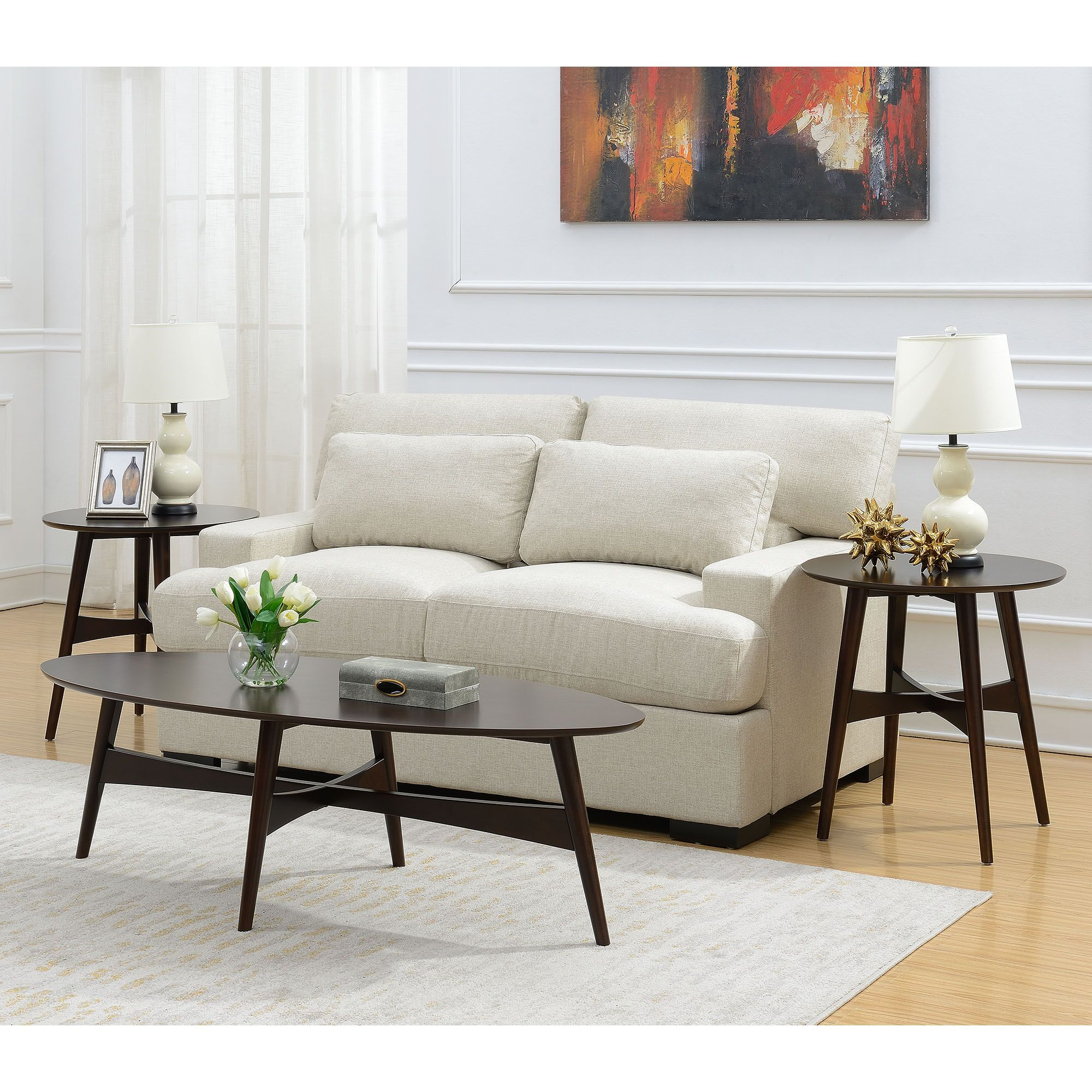 Bryce 3 Piece Coffee Table Set Color: Cherry