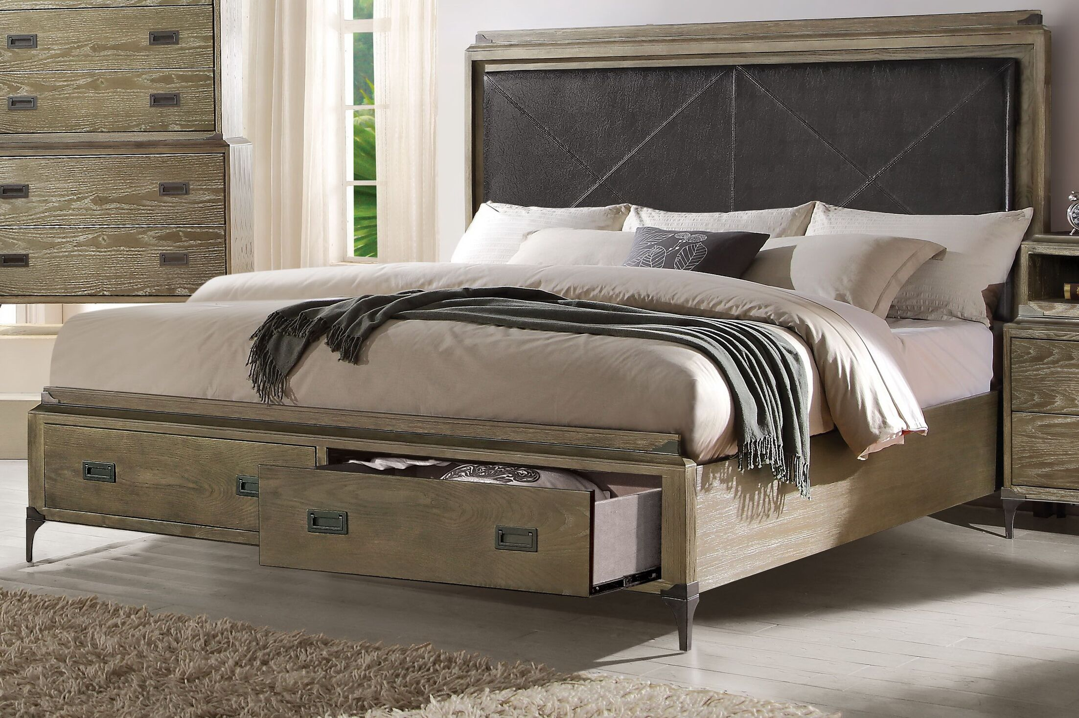 Cosima Upholstered Storage Panel Bed Size: Eastern King