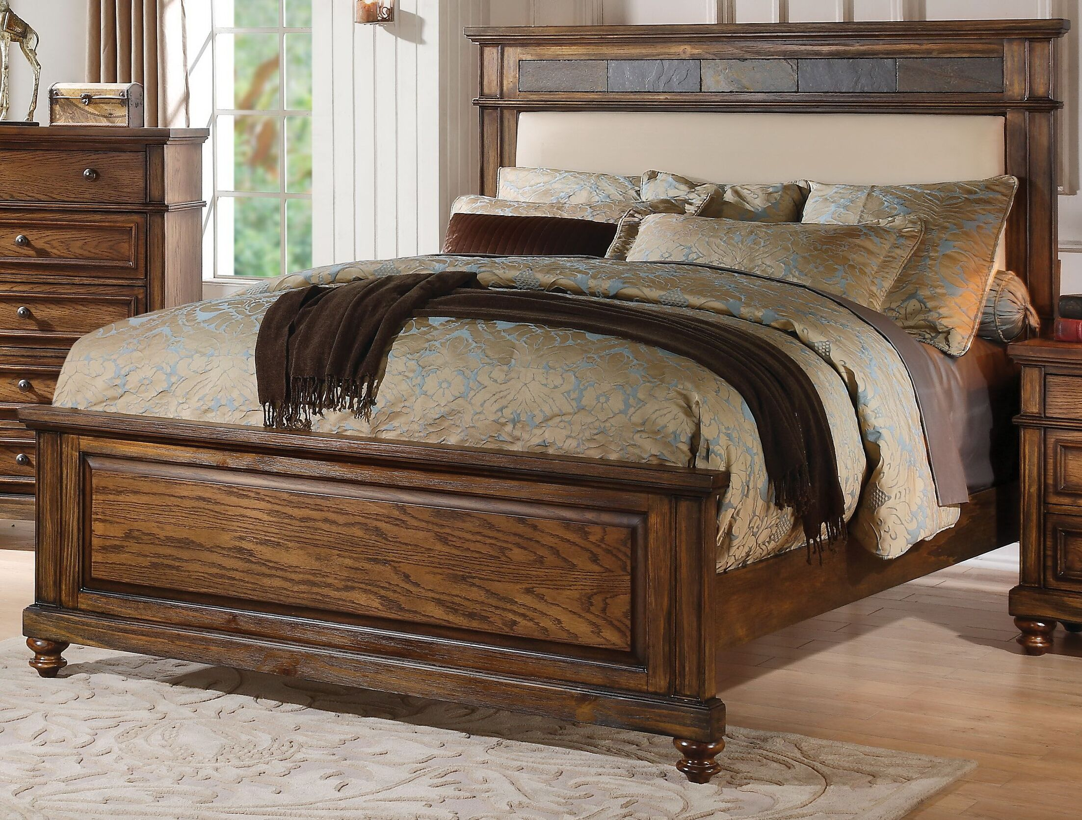 Saul Upholstered Panel Bed Size: Queen