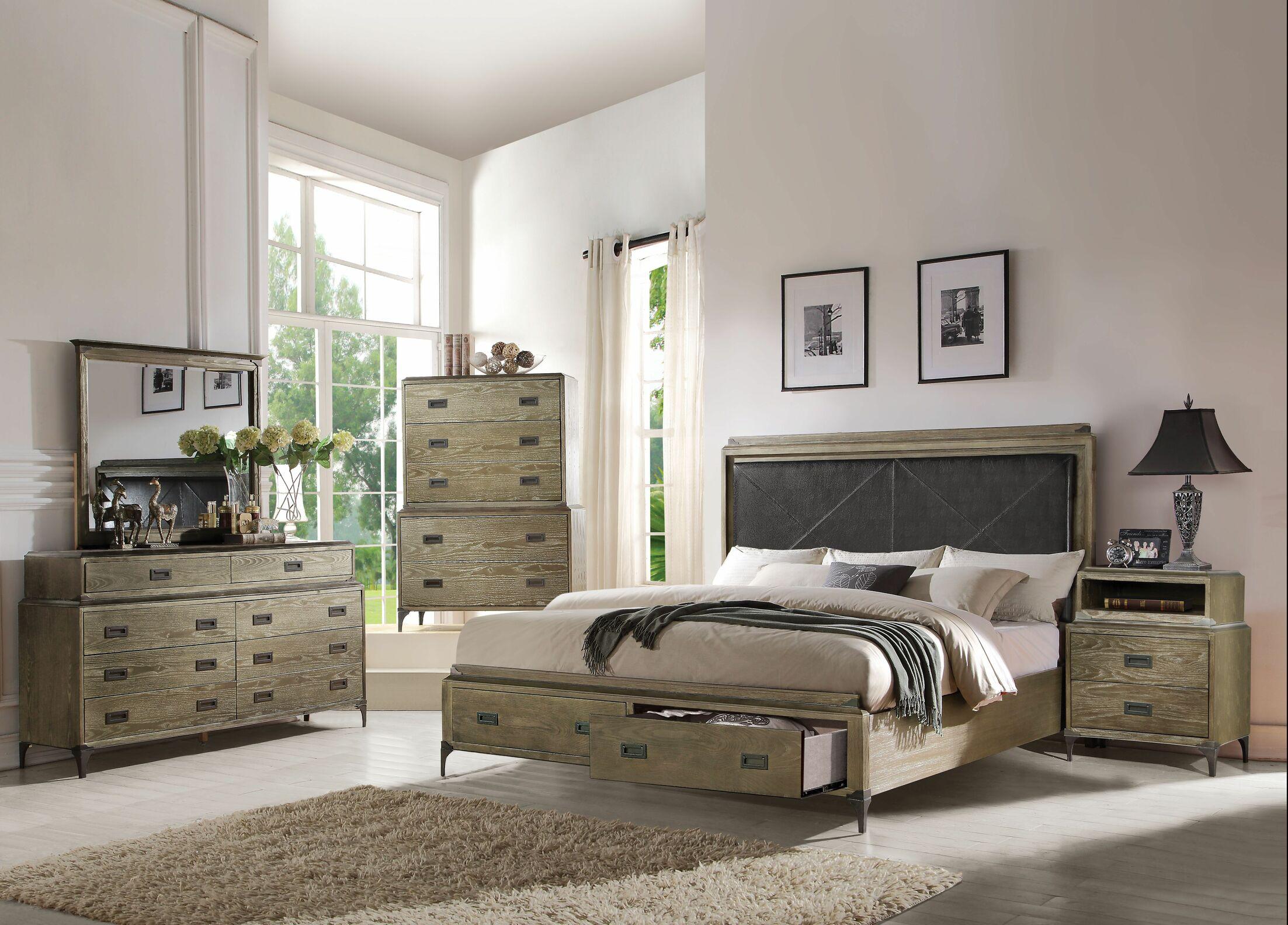 Cosima Upholstered Storage Panel Configurable Bedroom Set