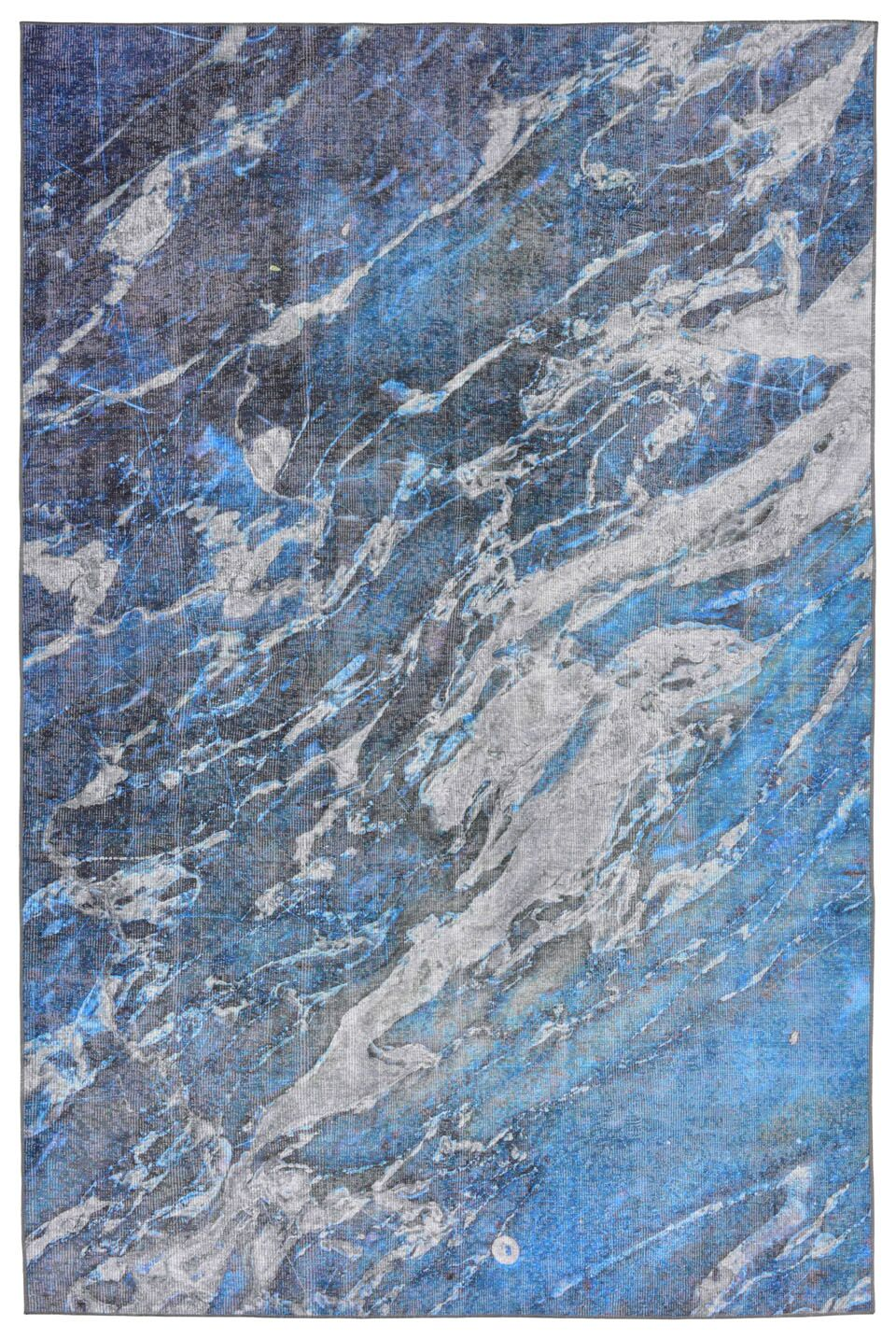 Lotus River Blue Indoor/Outdoor Area Rug Rug Size: Rectangle 4'11