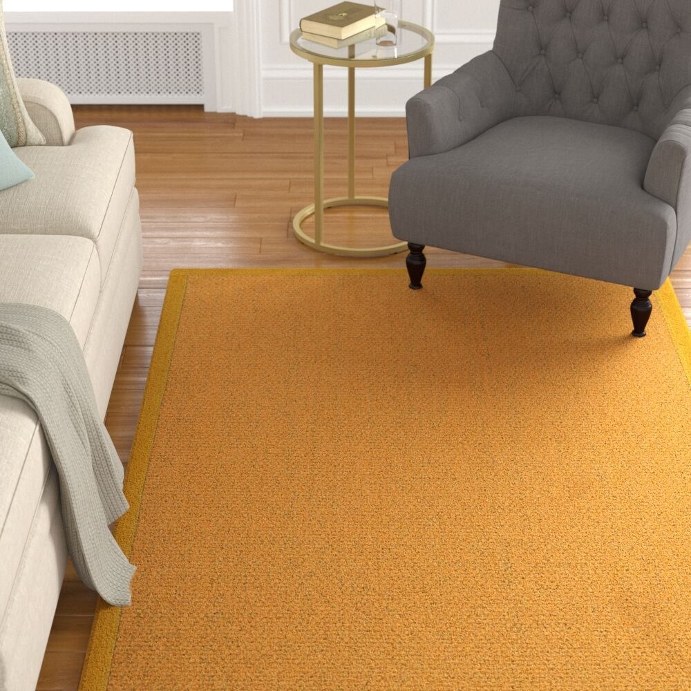 Pritzker Hand Woven Yellow Area Rug Rug Size: Rectangle 12' x 15'