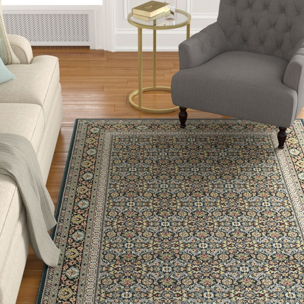 Knighten Navy/Gray Area Rug Rug Size: Rectangle 9'10