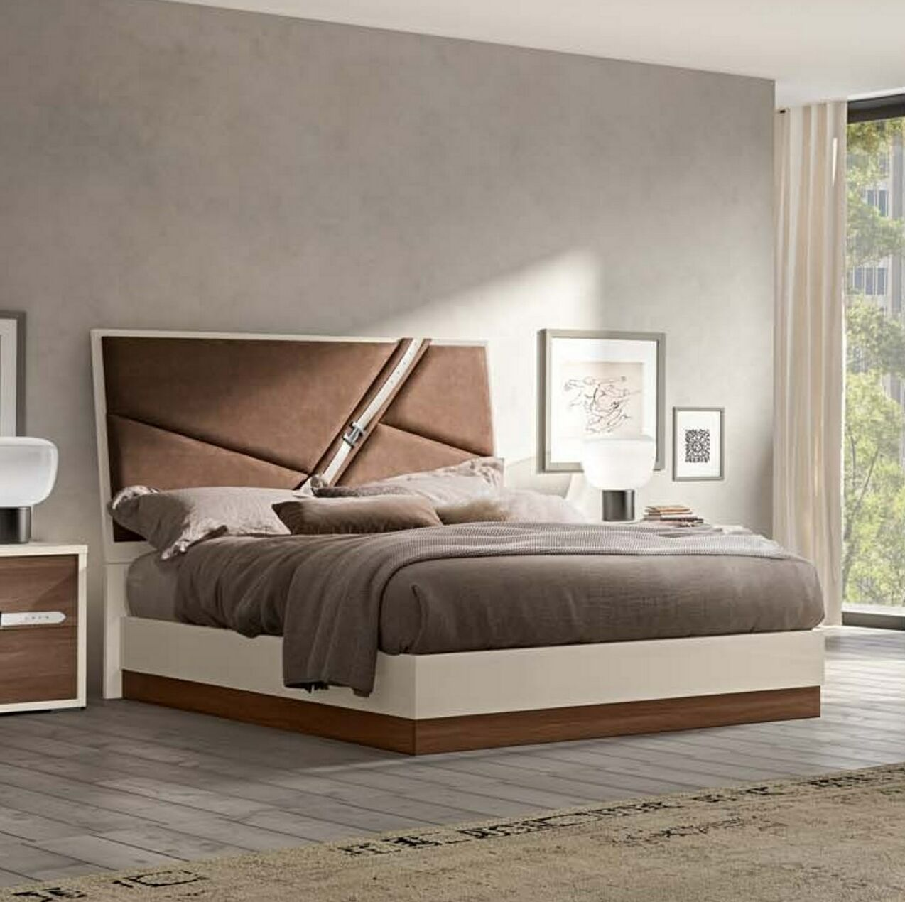 Sunnydale Upholstered Panel Bed Size: King