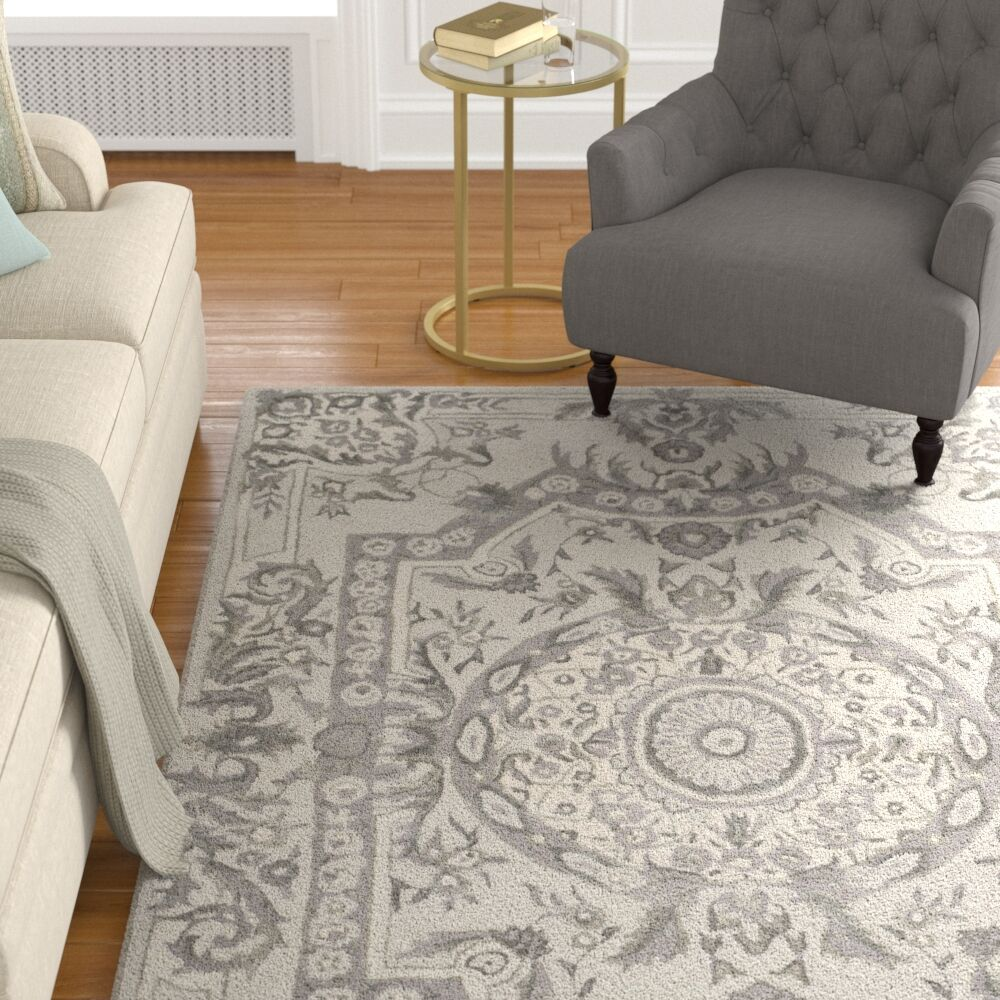 Lendella Hand Tufted Smoke Area Rug Rug Size: Rectangle 6' x 9'