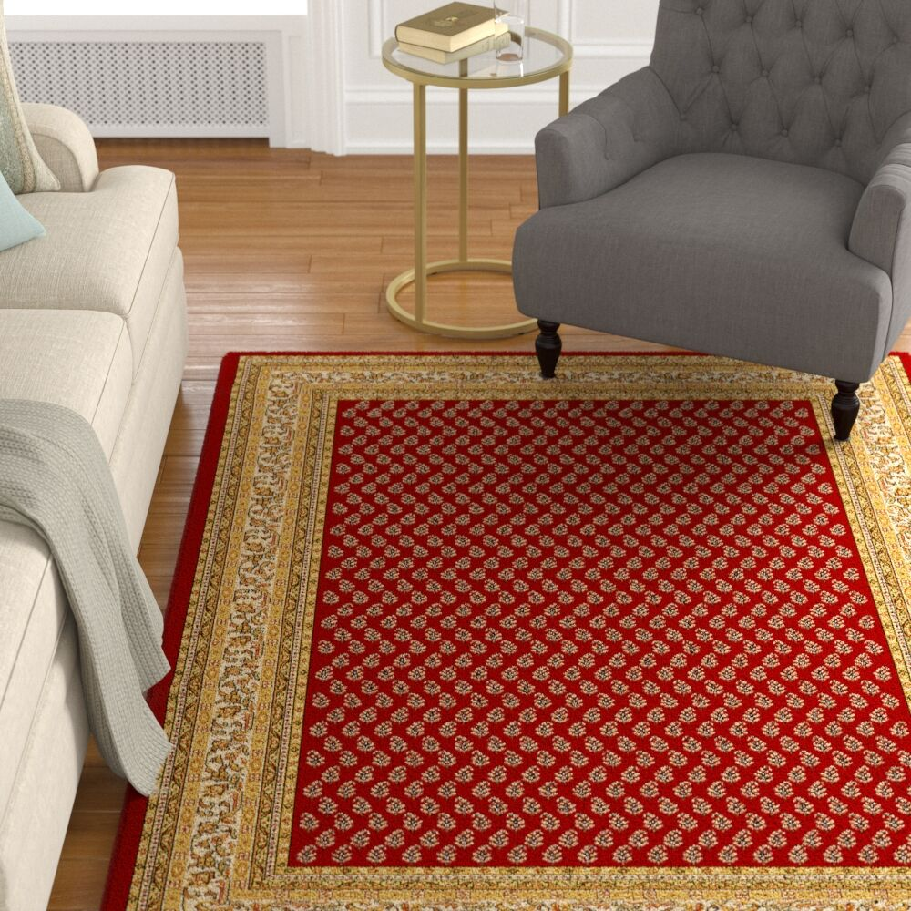 Amatrudo Red Area Rug Rug Size: 10' x 13'
