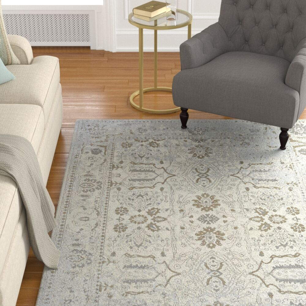 Matheney Hand Knotted Cotton Gray Area Rug Rug Size: Runner 2'6