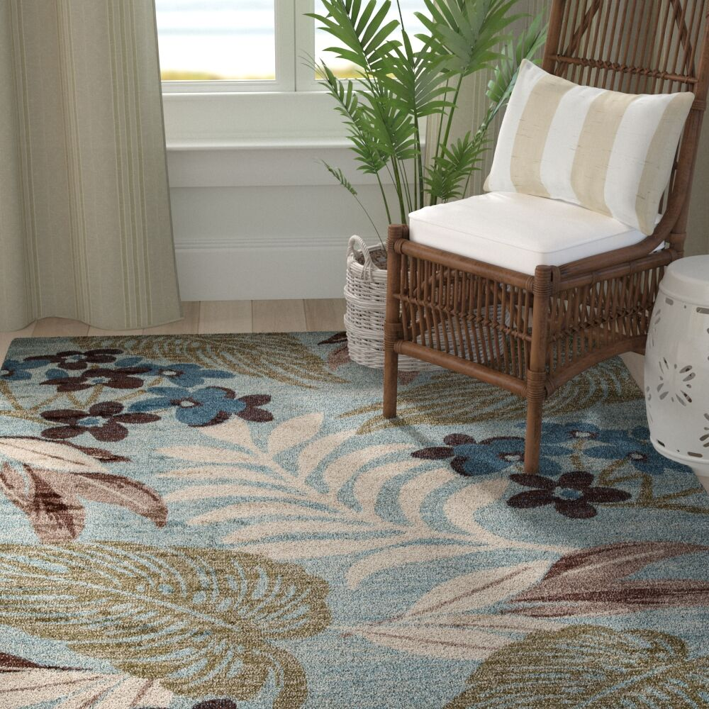 Lynbrook Blue/Brown Area Rug Size: Rectangle 3'11