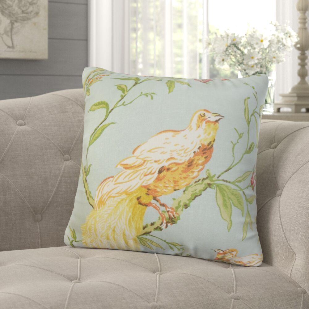 Jennifer Floral Throw Pillow Color: Springtime, Size: 24